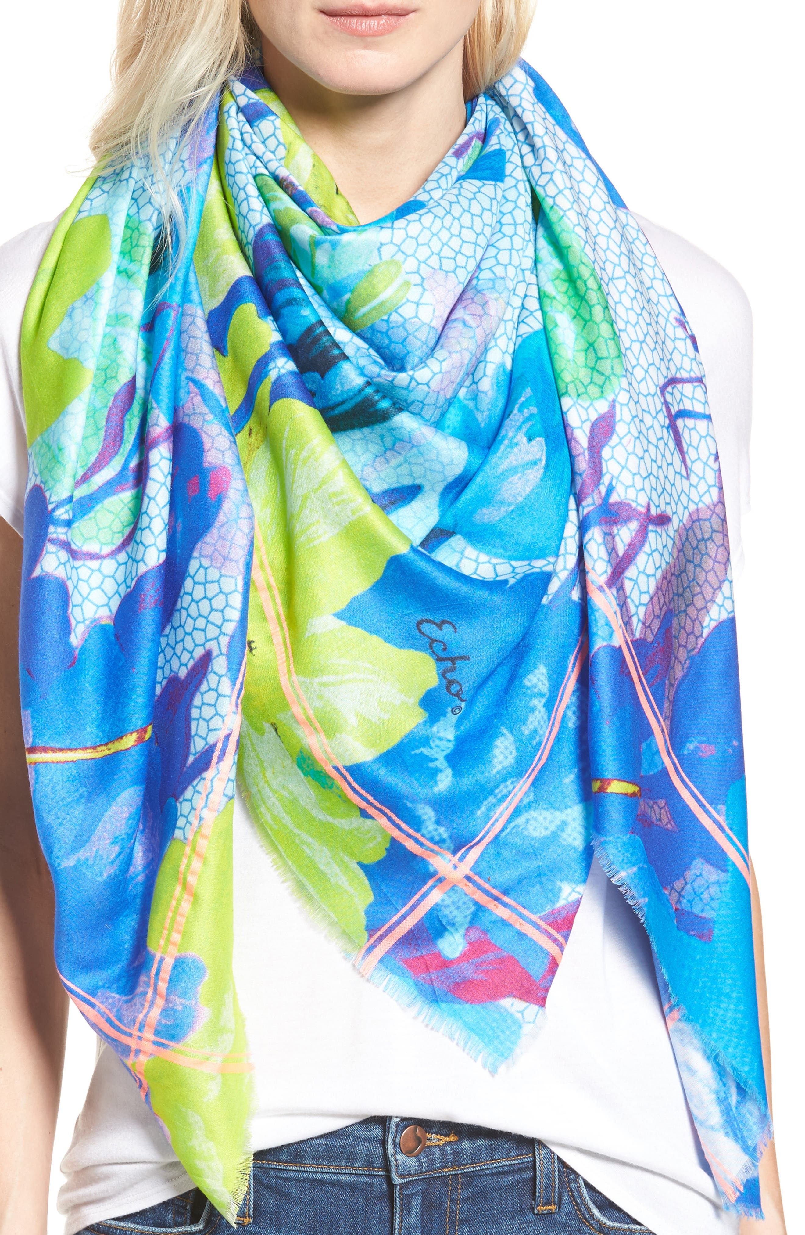 Botanica Square Scarf,                             Alternate thumbnail 5, color,                             400