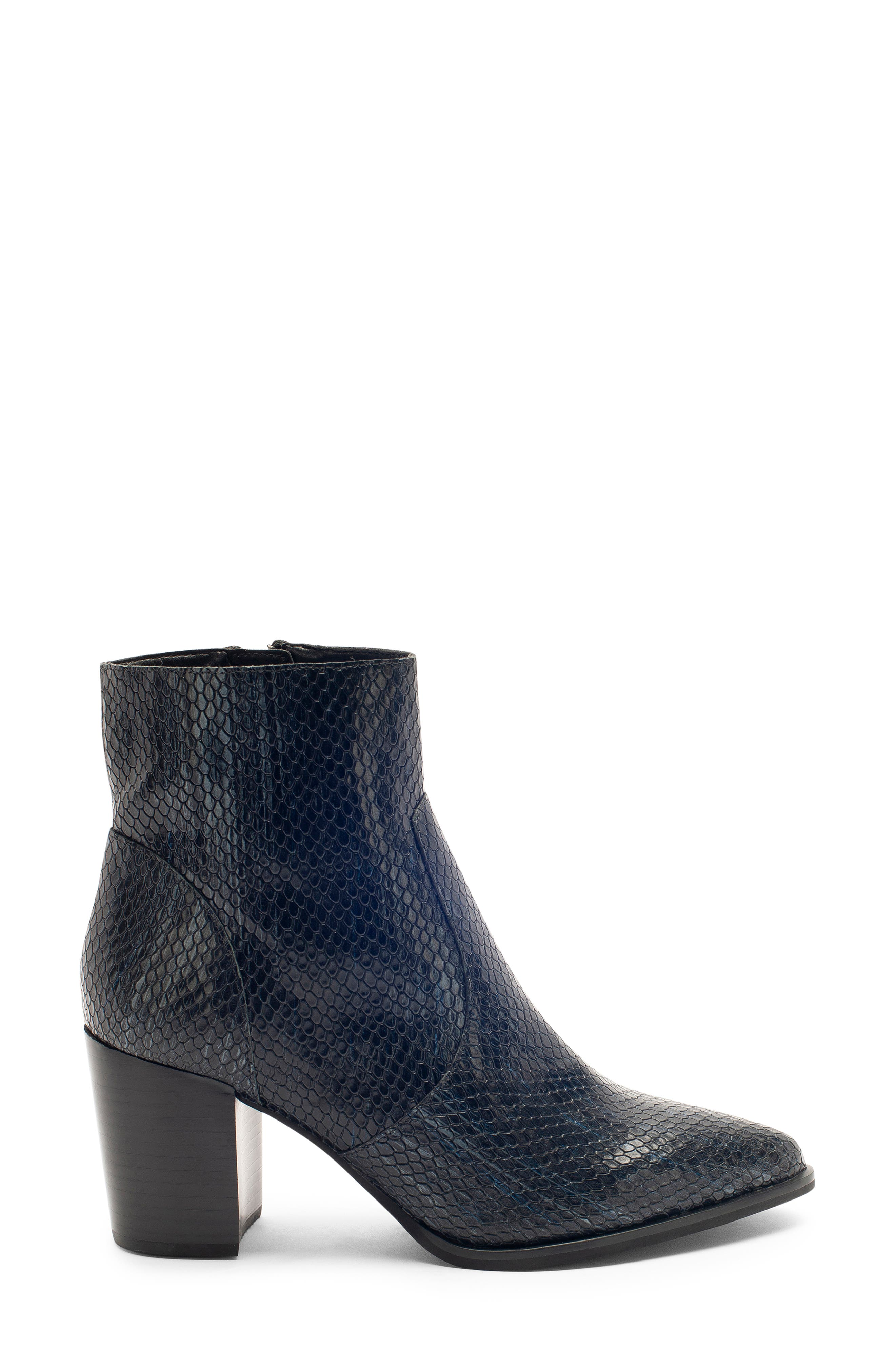 Tania Waterproof Bootie,                             Alternate thumbnail 3, color,                             BLACK SNAKE LEATHER