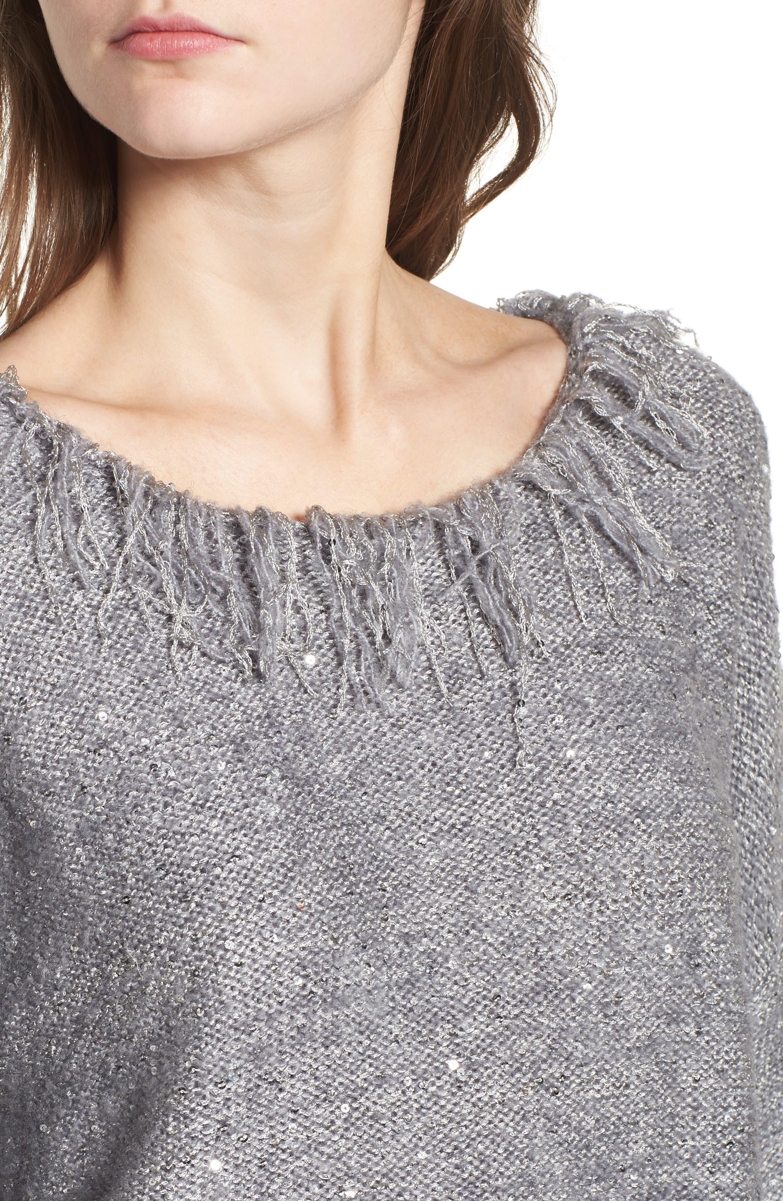 Savannah Frayed Sweater,                             Alternate thumbnail 4, color,                             020