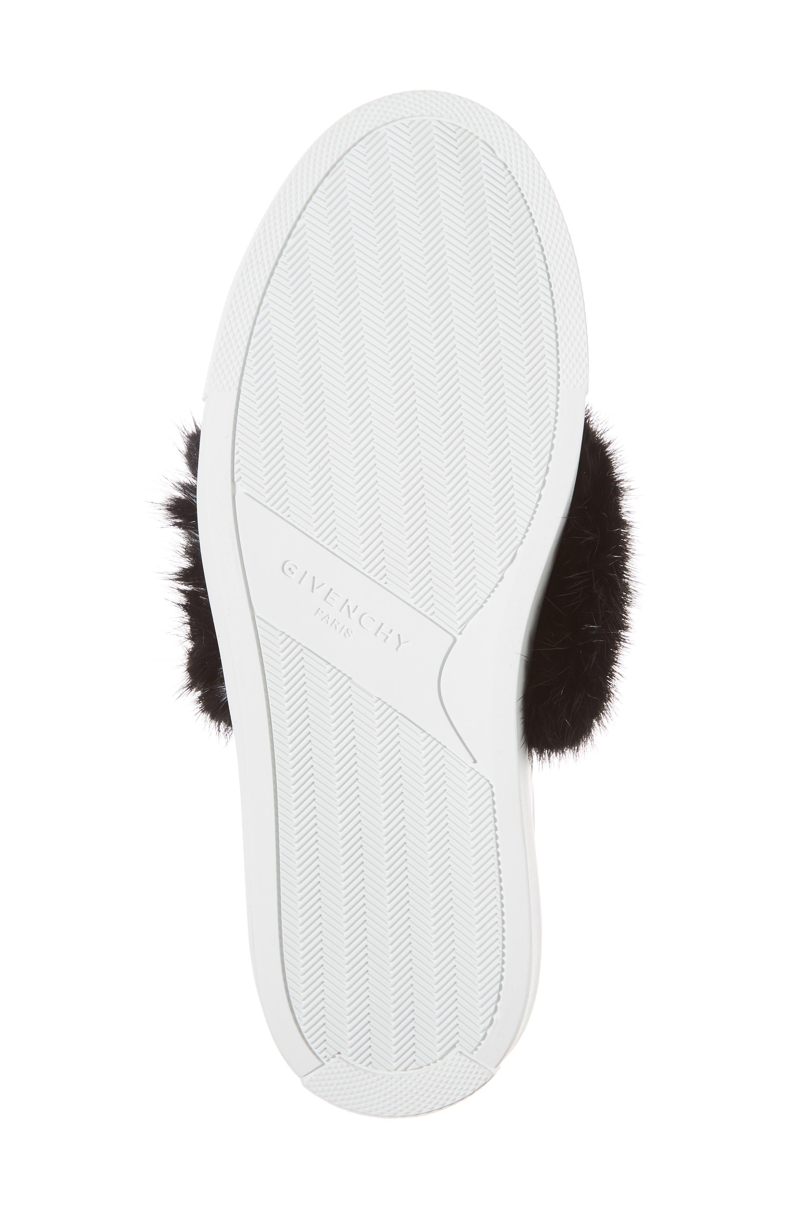 Urban Street Slip-On Sneaker with Genuine Mink Fur Trim,                             Alternate thumbnail 6, color,                             115