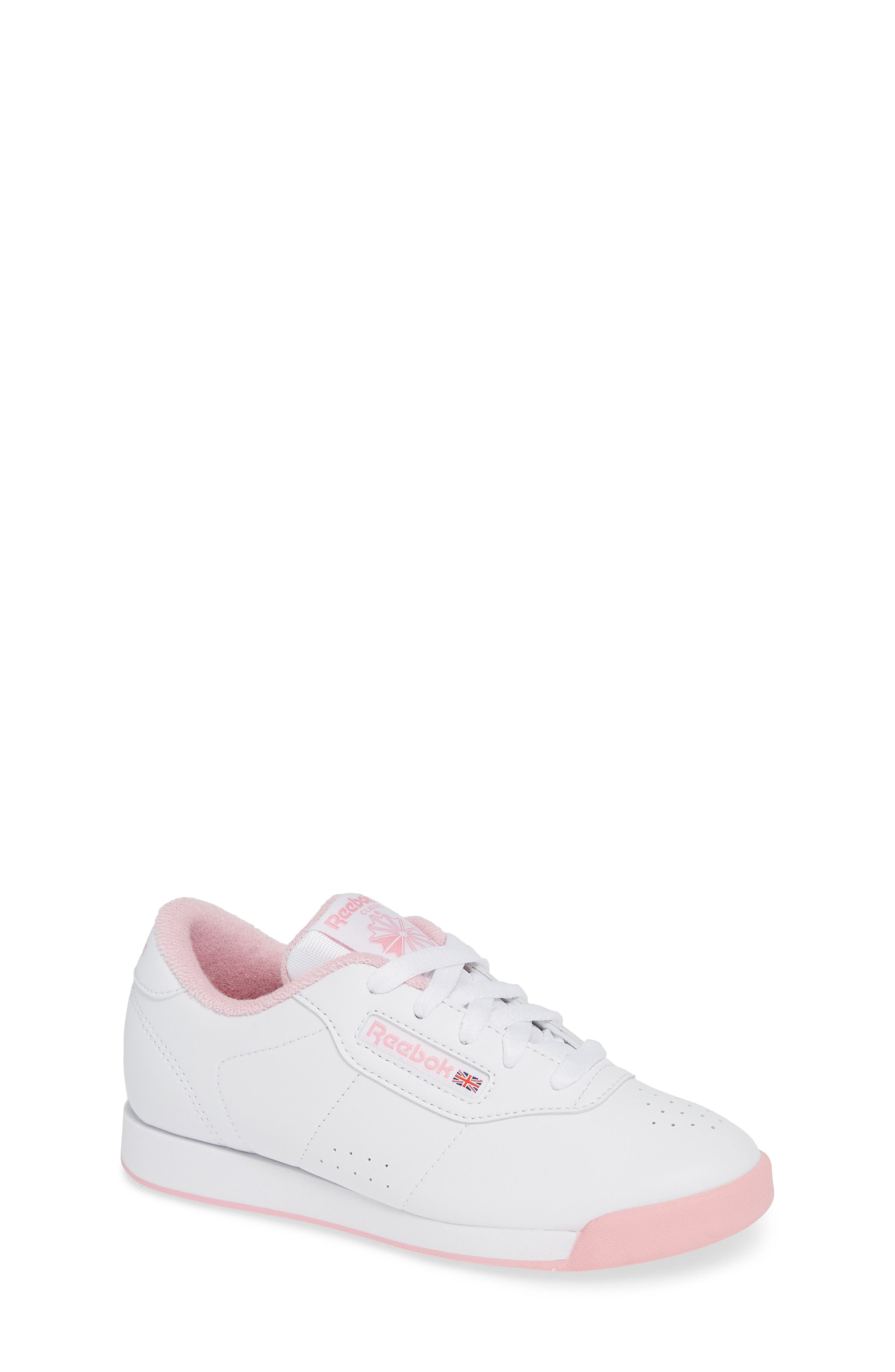 Princess Sneaker,                         Main,                         color, WHITE/ LIGHT PINK