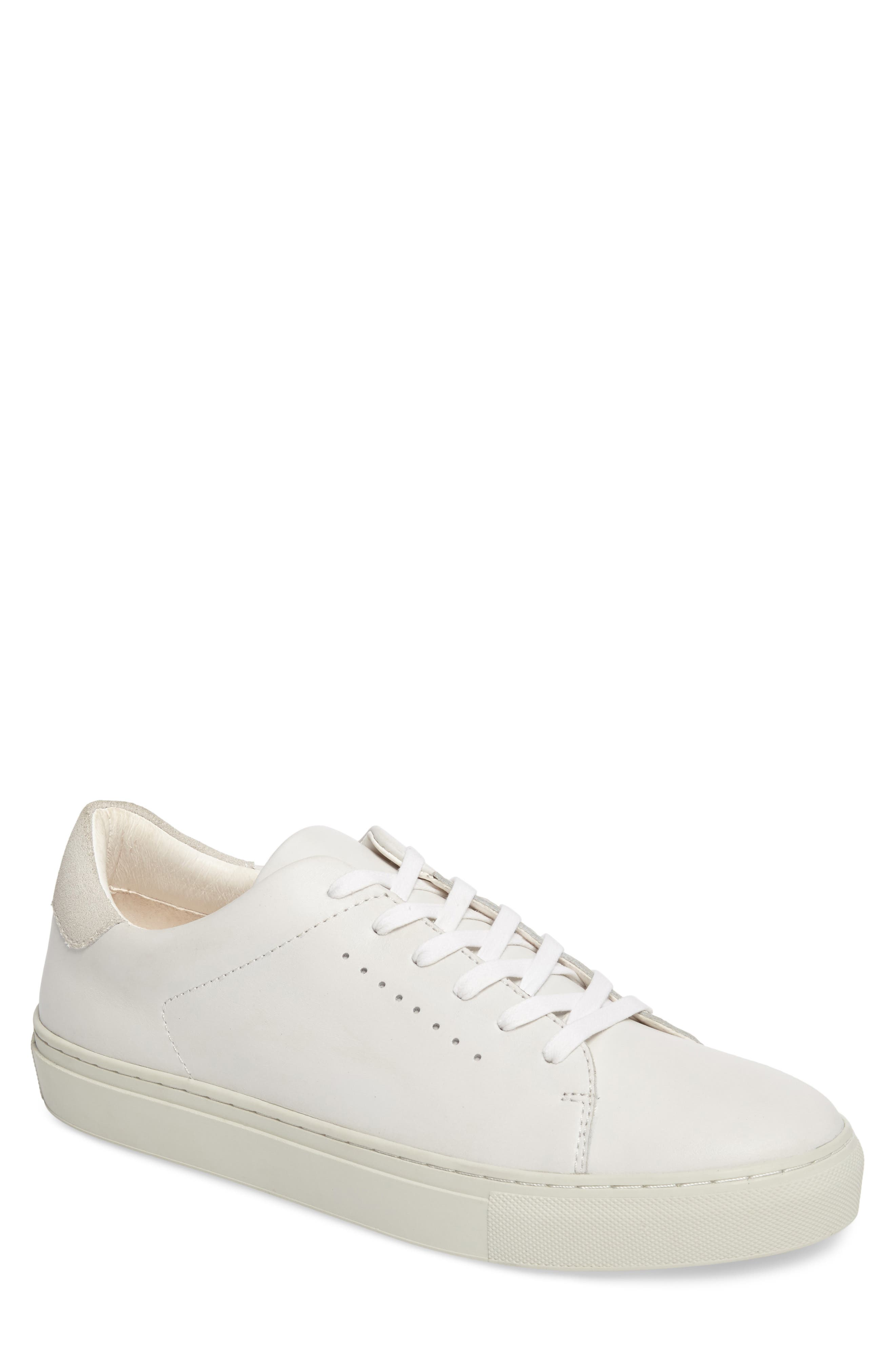 Desmond Sneaker,                             Main thumbnail 1, color,                             WHITE LEATHER