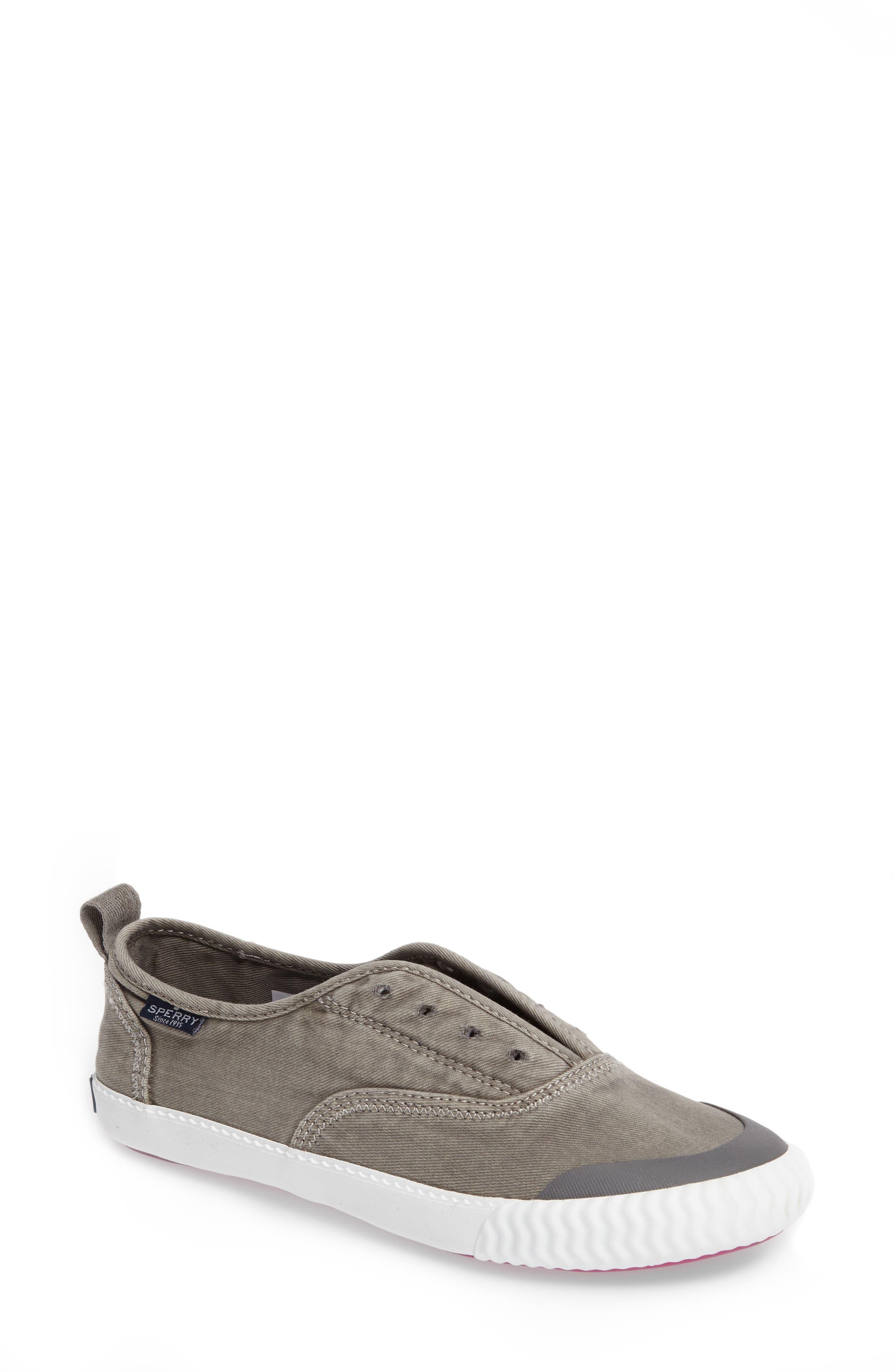 Sayel Slip-On Sneaker,                             Main thumbnail 1, color,                             GREY FABRIC