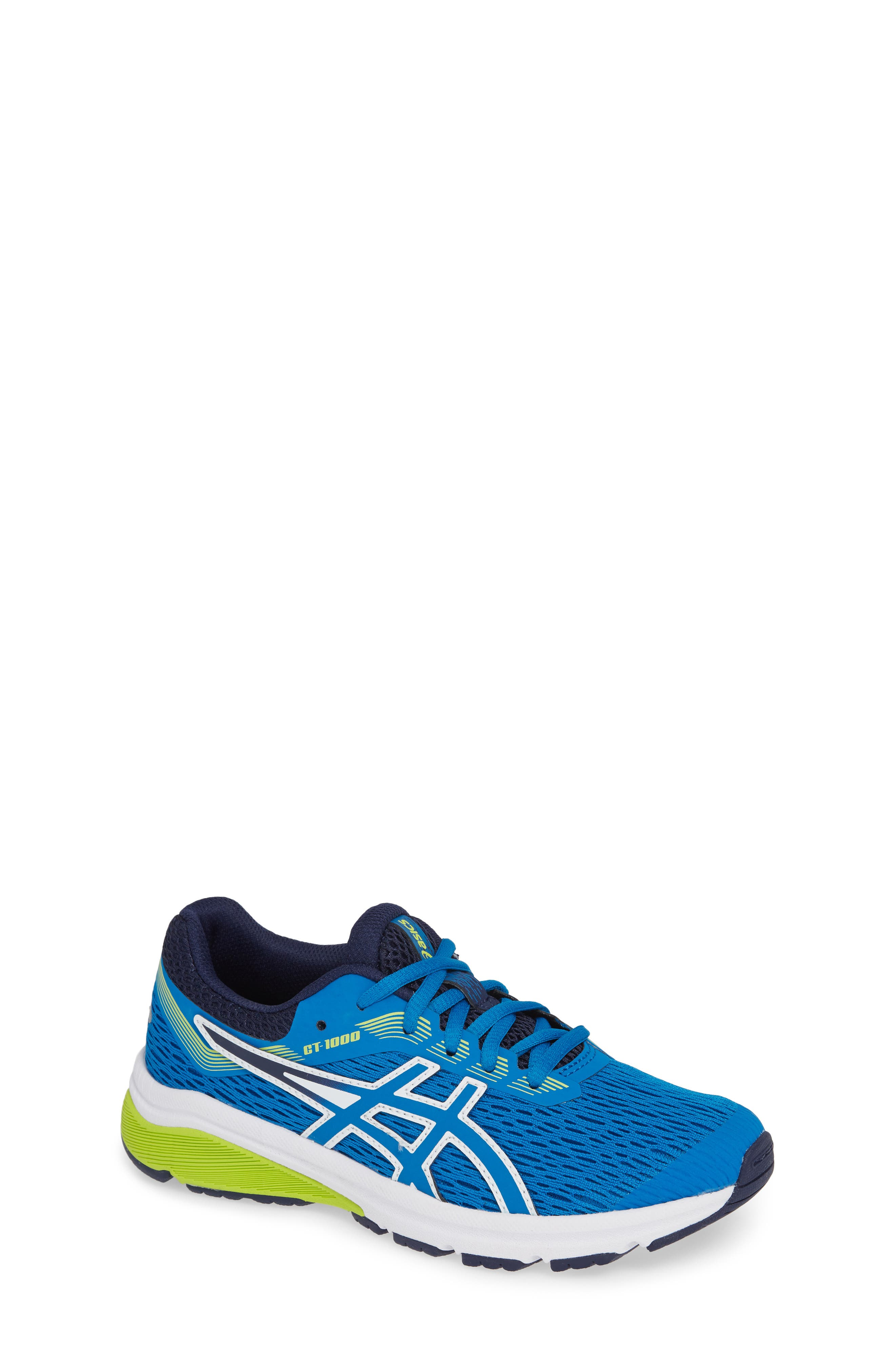 GT 1000 7 Running Shoe,                         Main,                         color, RACE BLUE/ NEON LIME