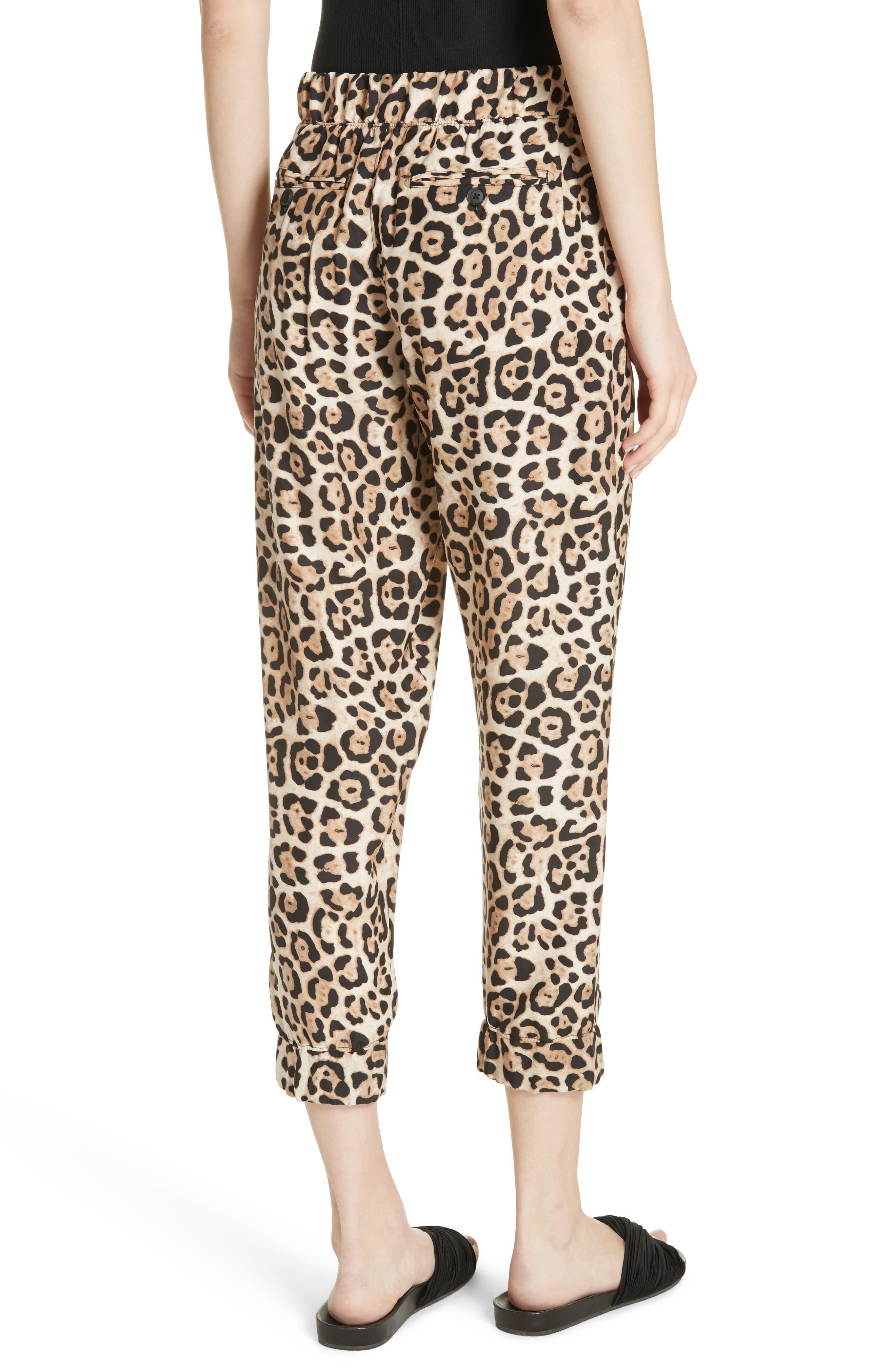 ATM ANTHONY THOMAS MELILLO,                             Leopard Print Silk Pants,                             Alternate thumbnail 2, color,                             LEOPARD PRINT