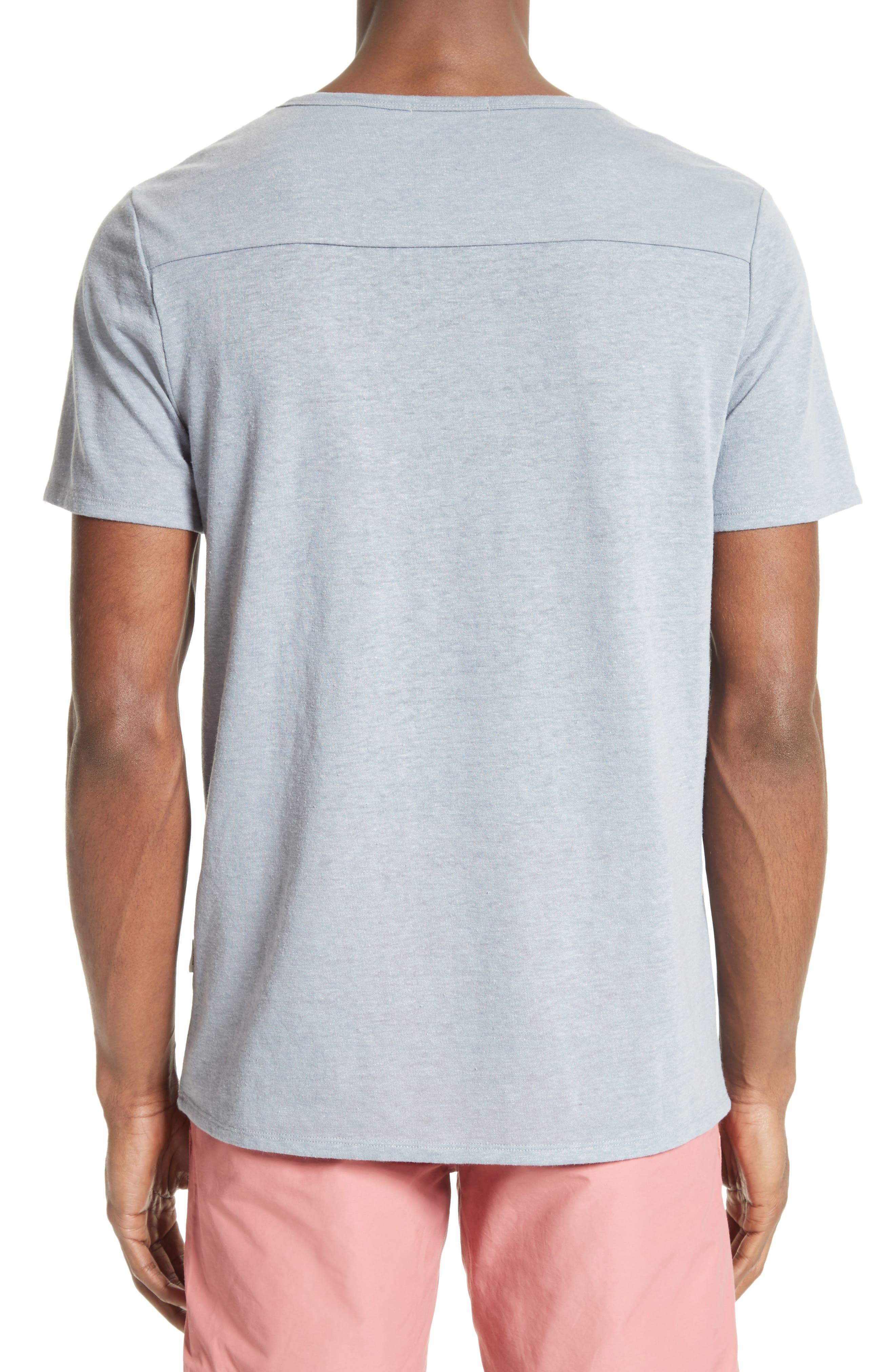 Chad Linen Blend Pocket T-Shirt,                             Alternate thumbnail 2, color,                             020