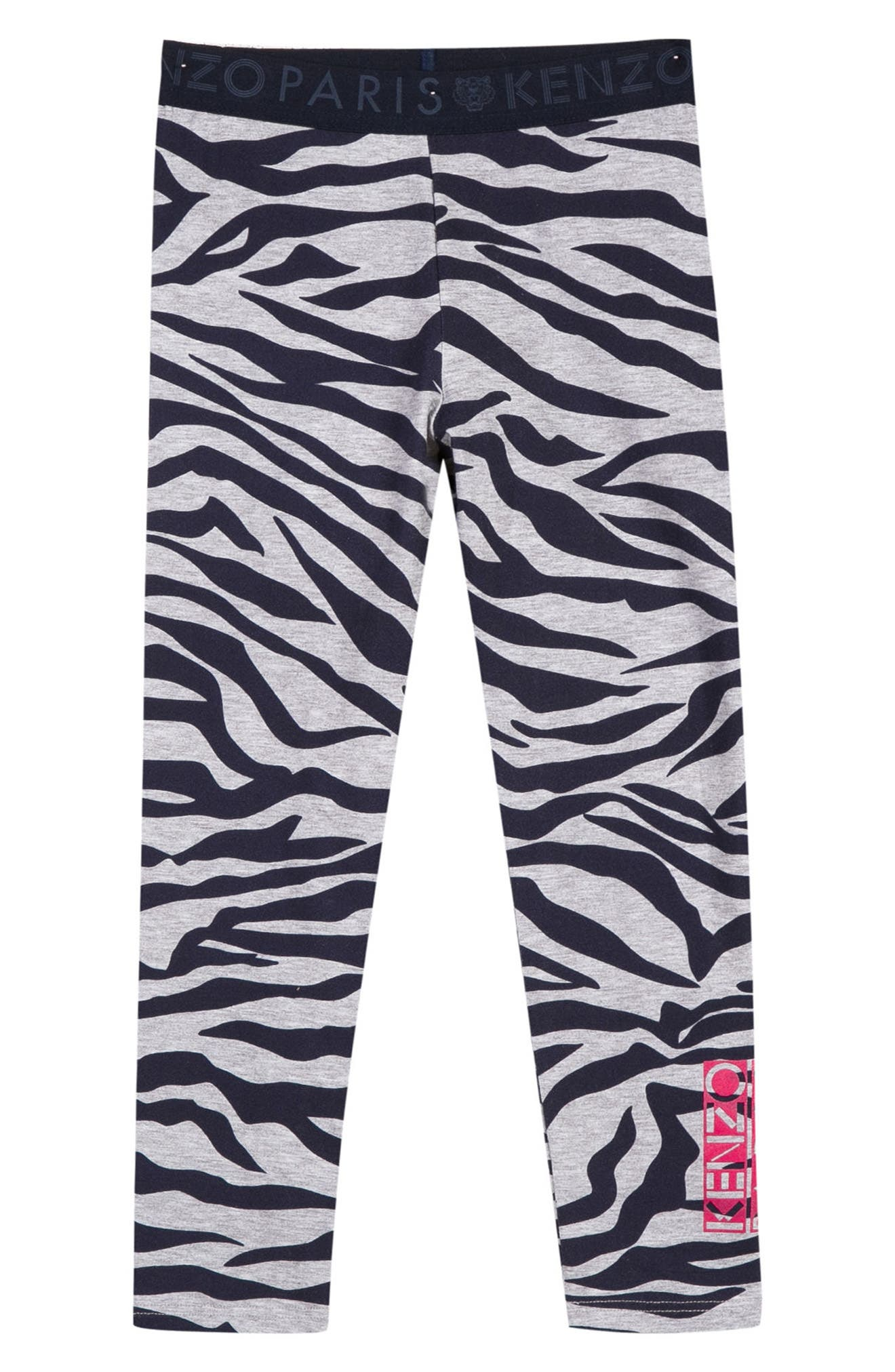 KENZO,                             Stripe Leggings,                             Main thumbnail 1, color,                             076