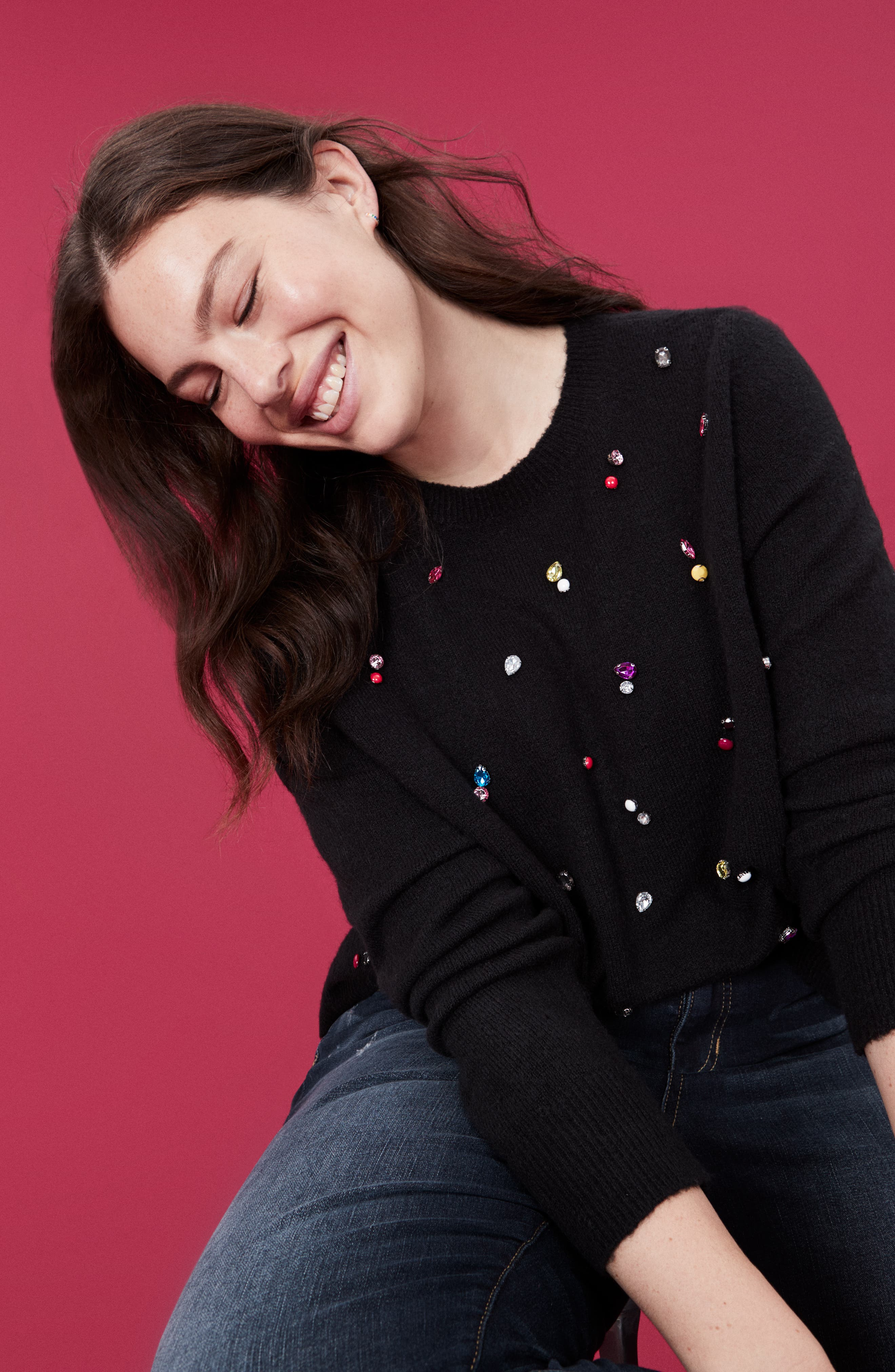 Embellished Sweater,                             Alternate thumbnail 9, color,                             001