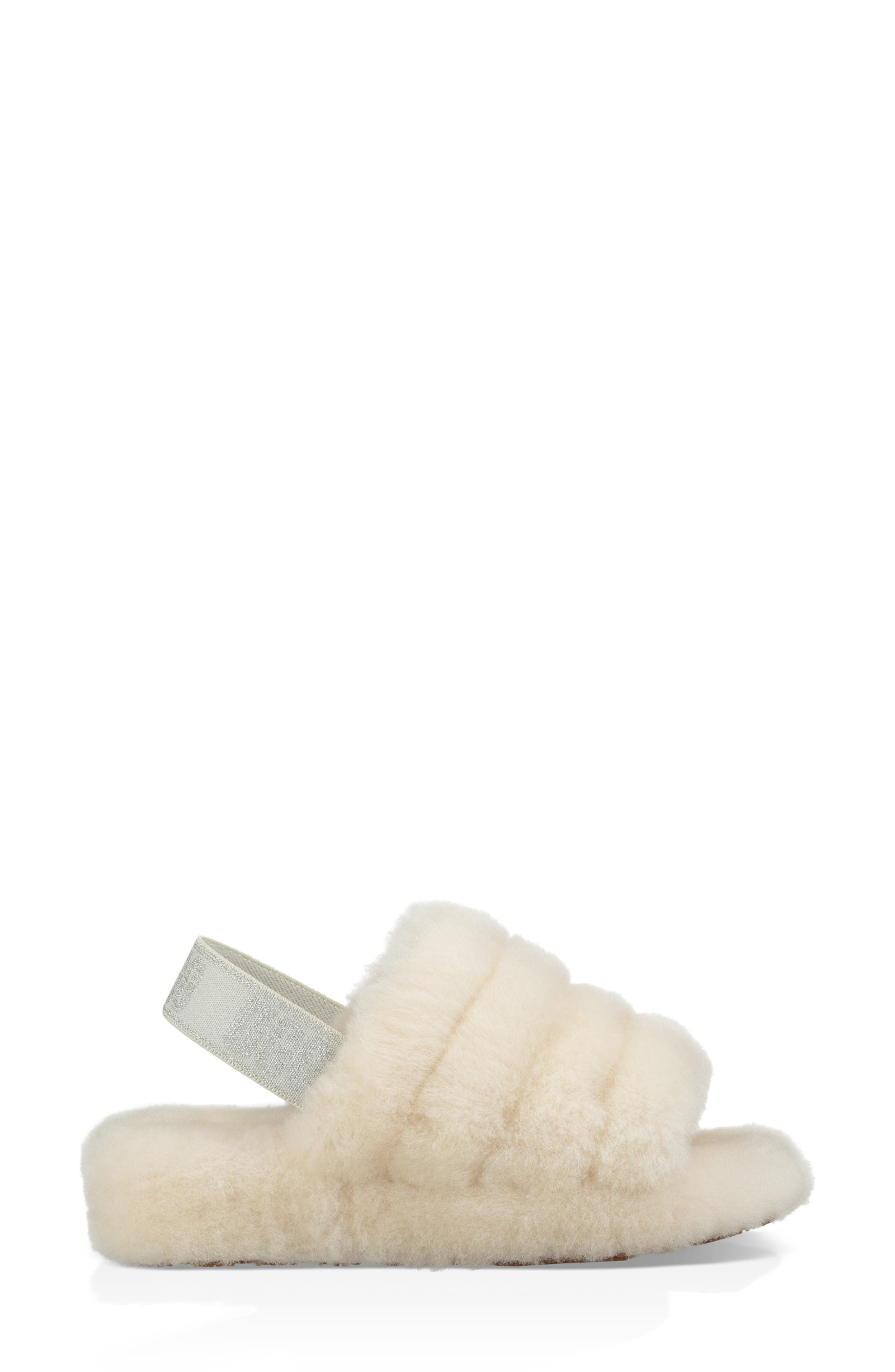 Fluff Yeah Genuine Shearling Slipper,                             Alternate thumbnail 6, color,                             CREAM