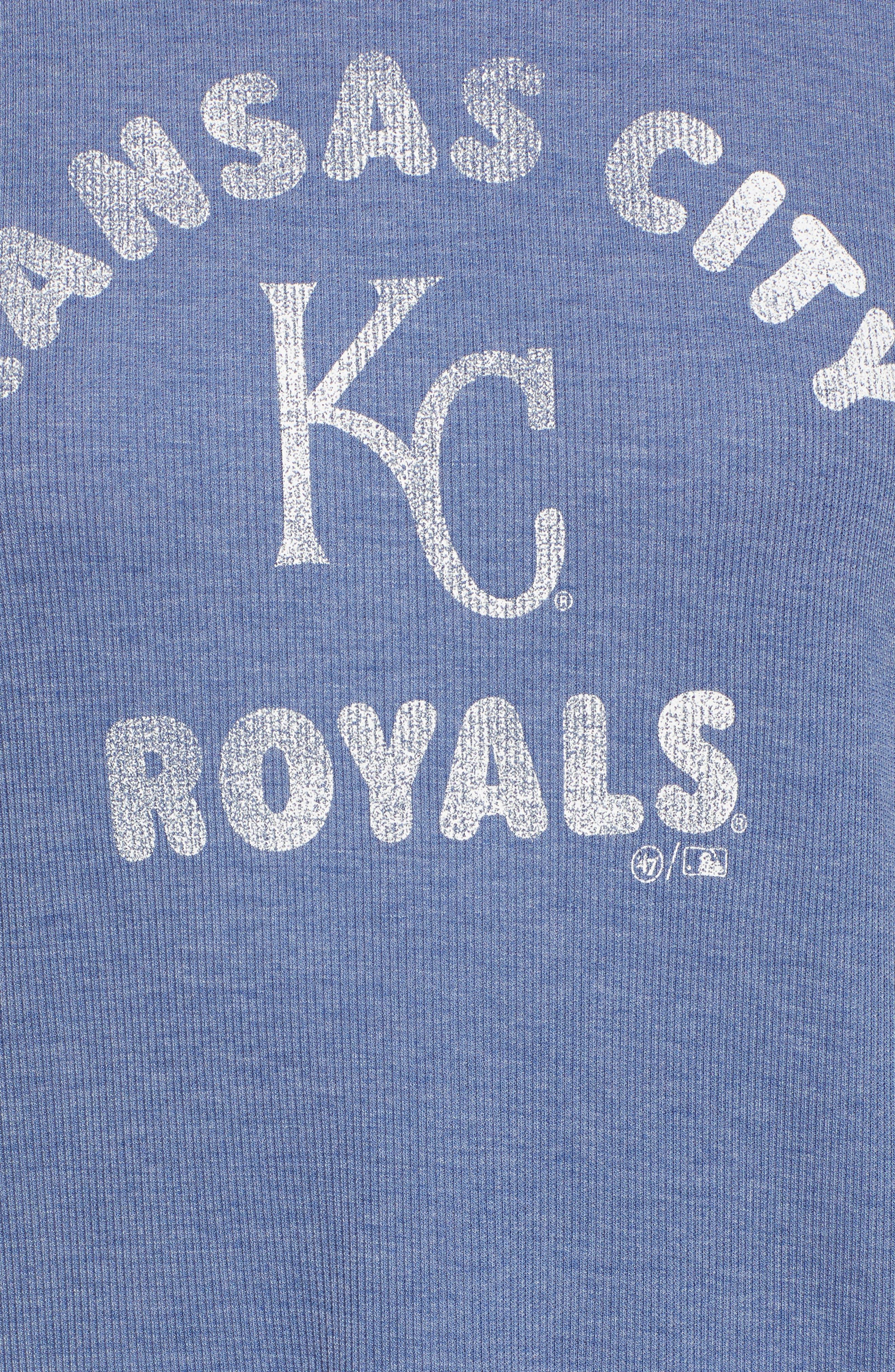 Campbell Kansas City Royals Rib Knit Hooded Top,                             Alternate thumbnail 6, color,