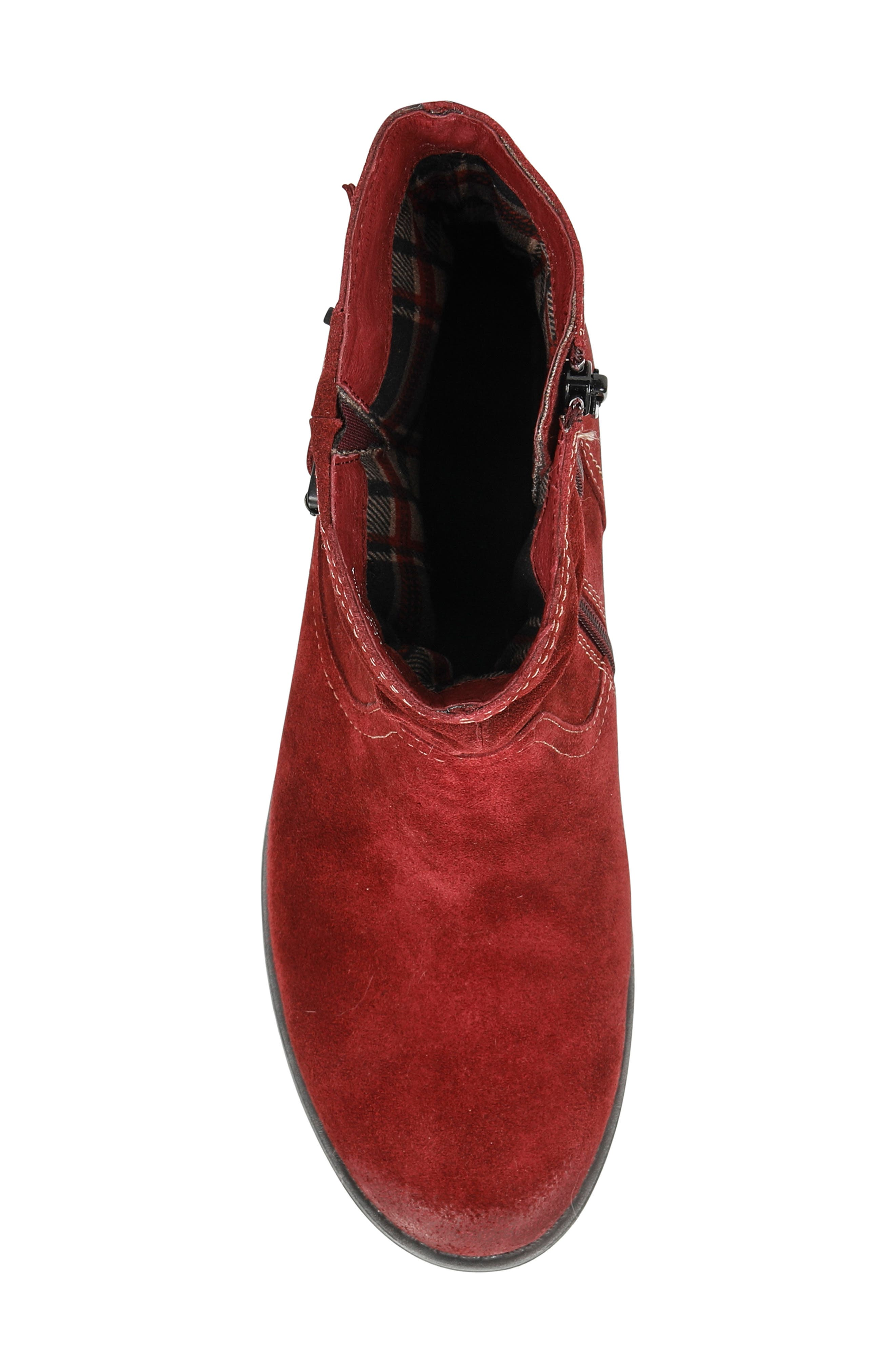Beaufort Boot,                             Alternate thumbnail 5, color,                             GARNET SUEDE