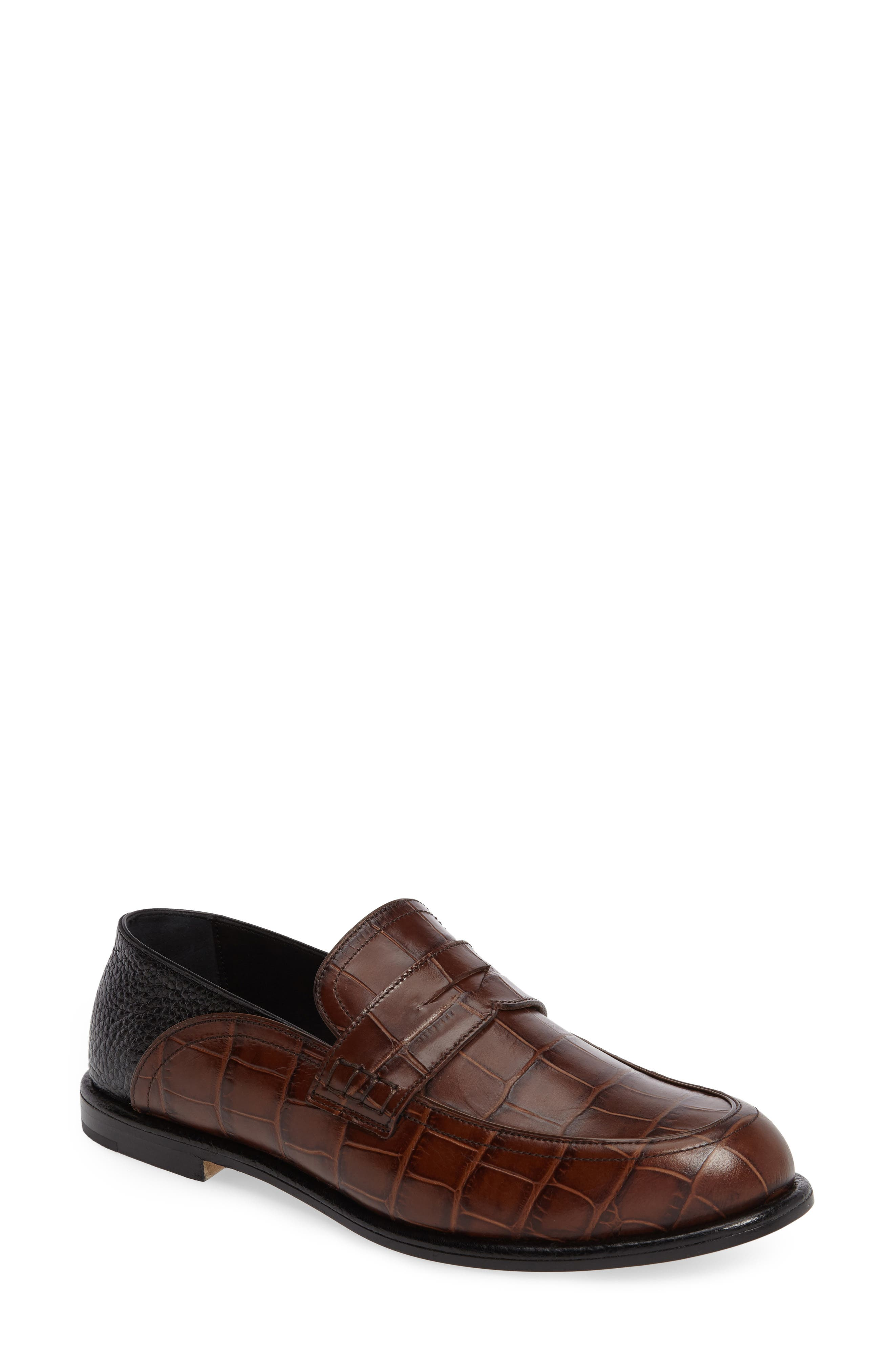 Croc Embossed Convertible Loafer,                             Main thumbnail 2, color,