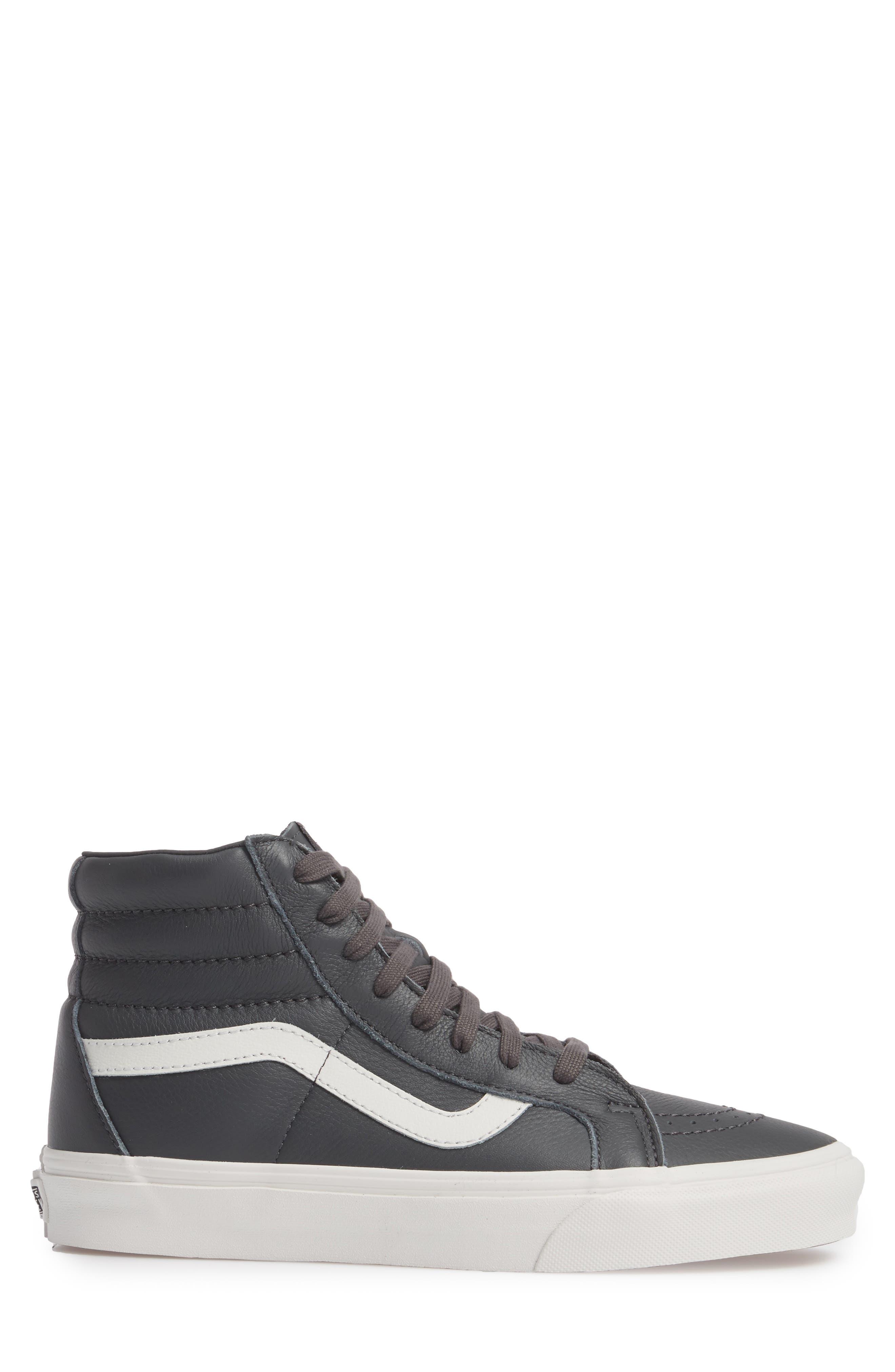 Sk8-Hi Reissue Leather Sneaker,                             Alternate thumbnail 3, color,                             020