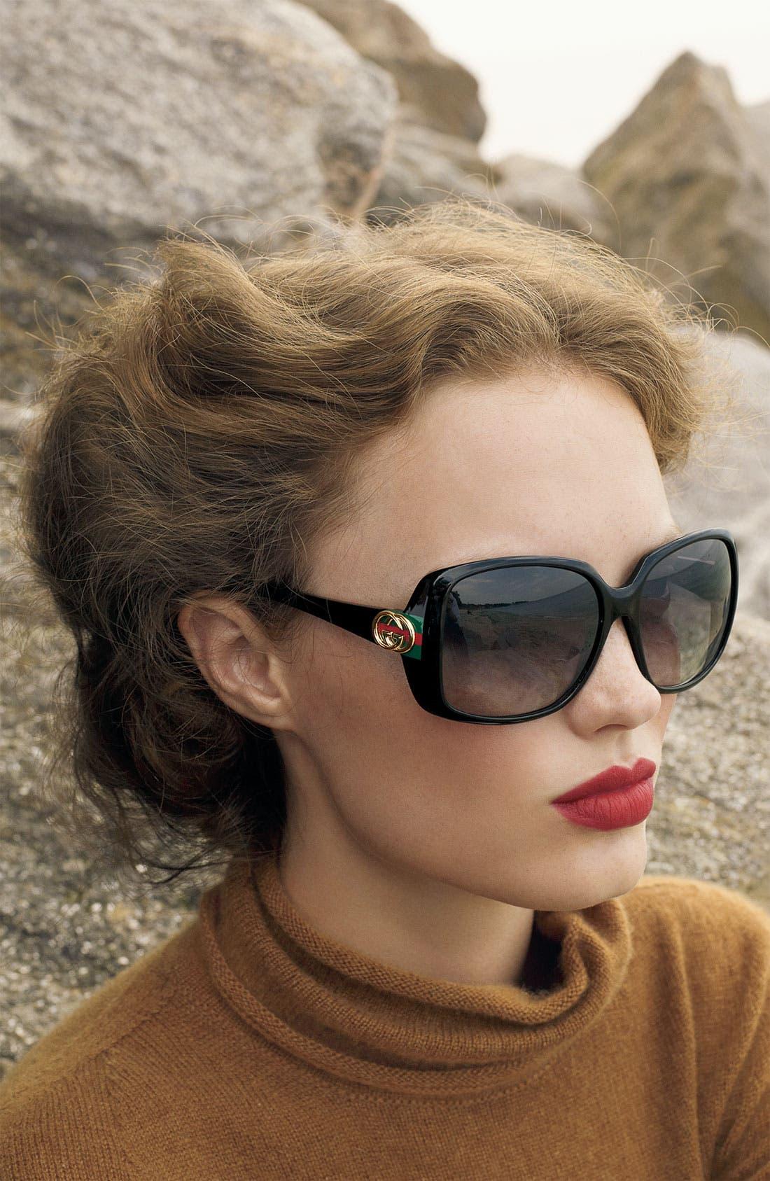 59mm Oversized Square Sunglasses,                             Alternate thumbnail 2, color,                             001