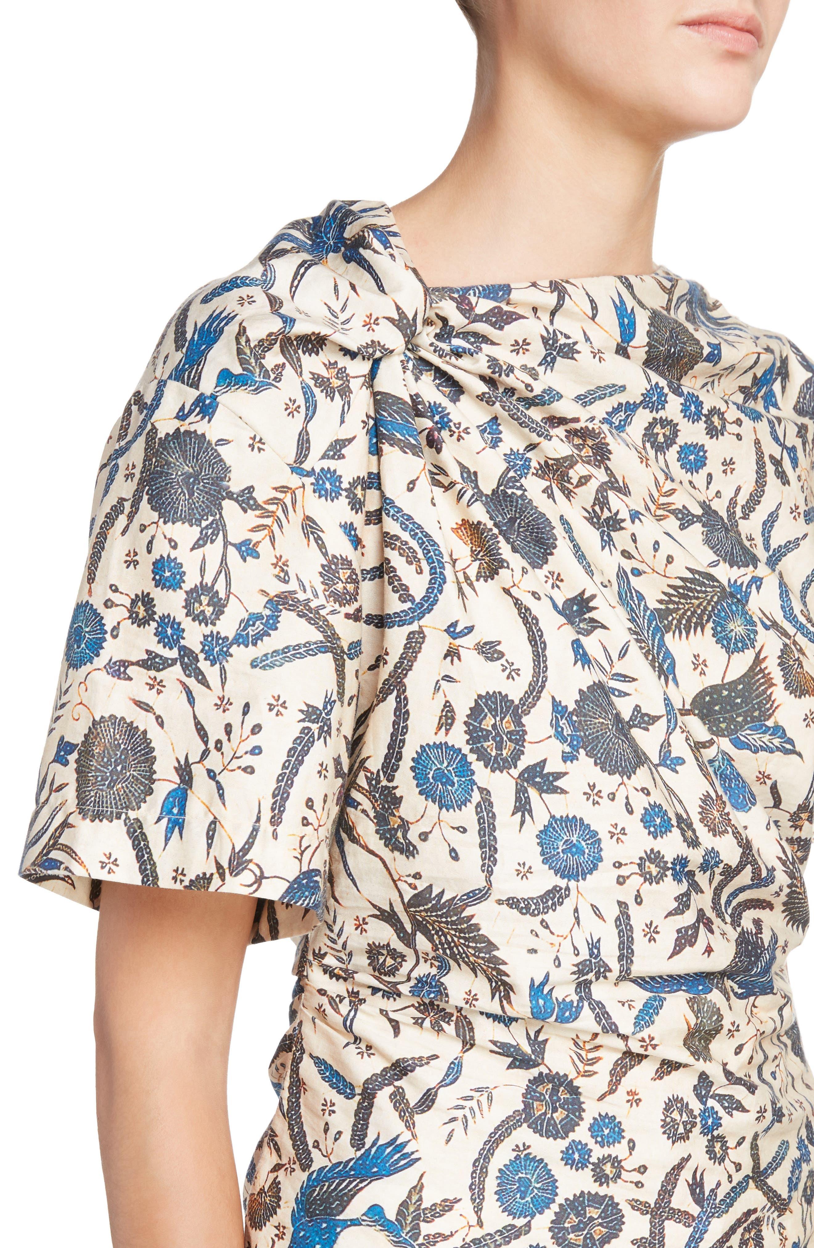 Isabel Marant Étoile Carey Print Cotton Top,                             Alternate thumbnail 4, color,                             250