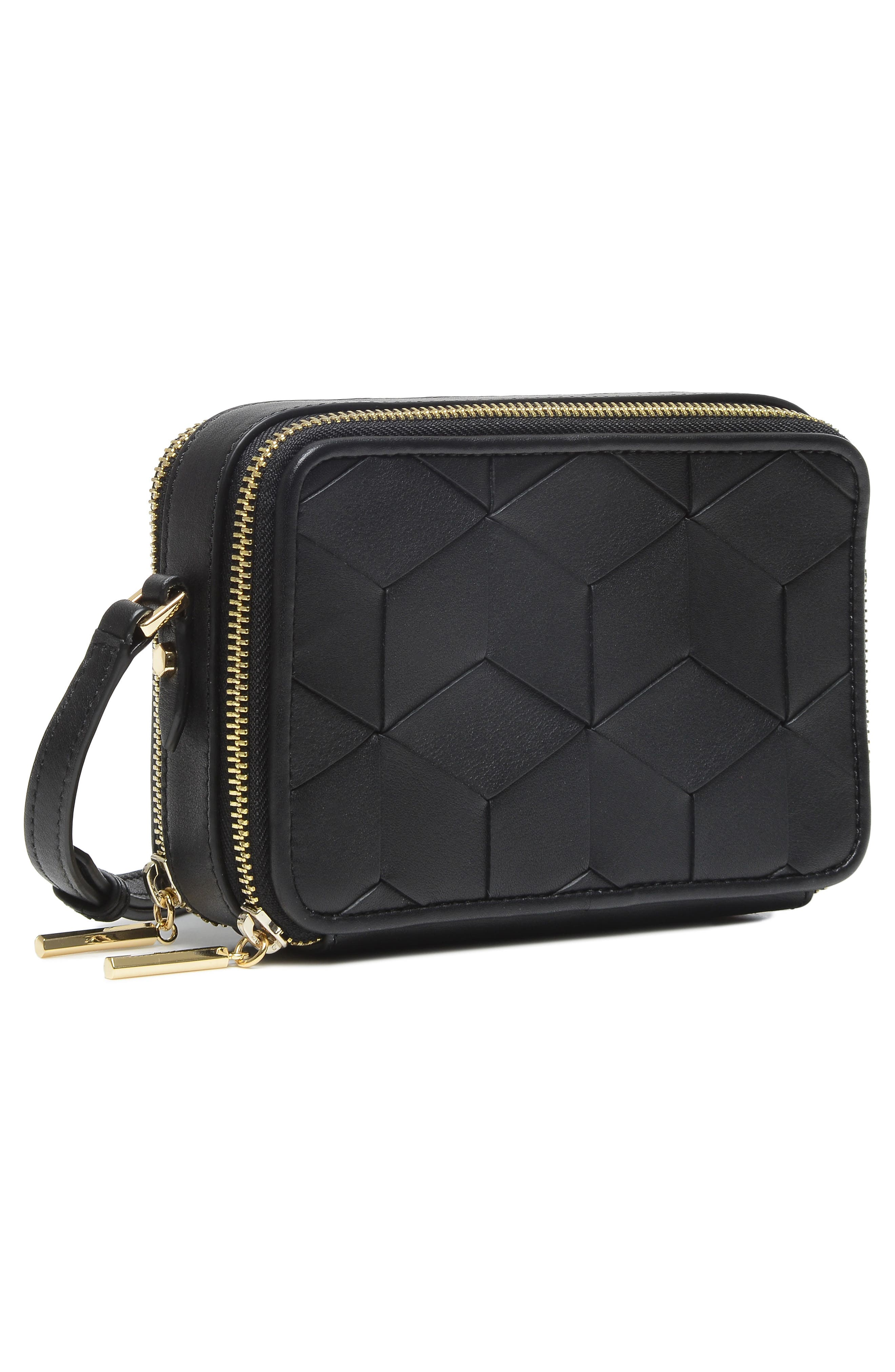 Roam Leather Camera Bag,                             Alternate thumbnail 5, color,                             BLACK