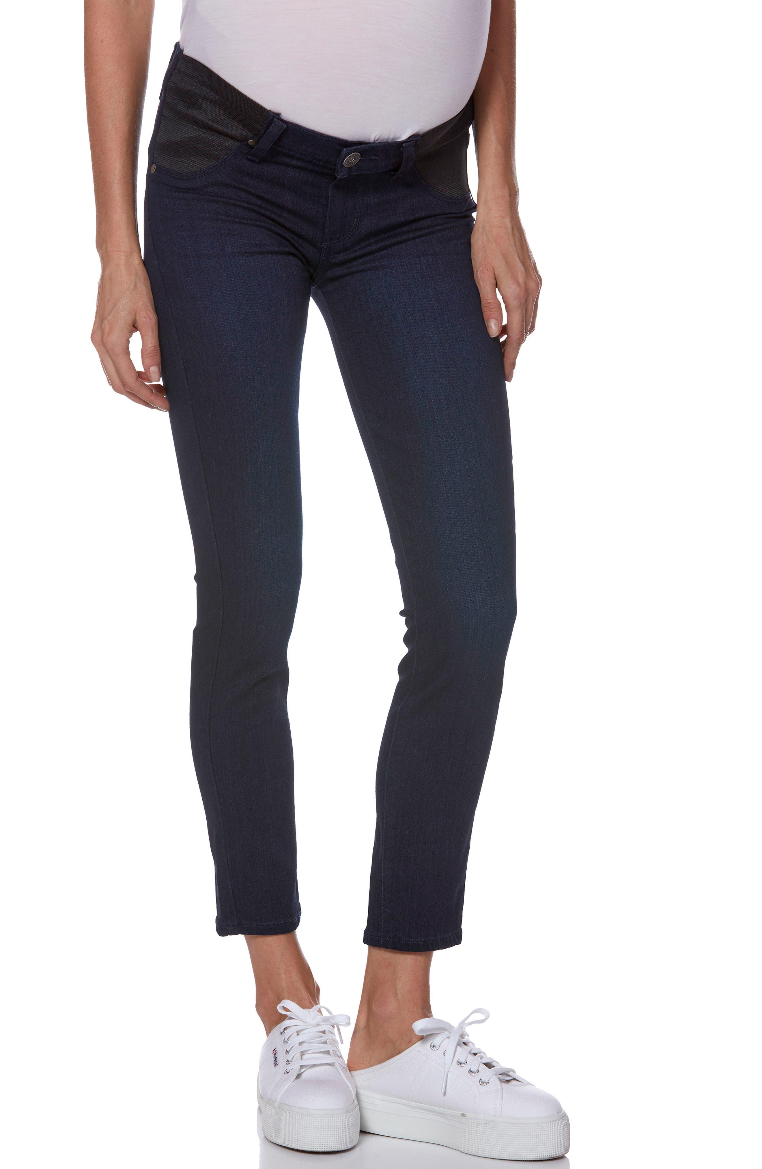 PAIGE Transcend - Verdugo Ultra Skinny Maternity Jeans, Main, color, LANA