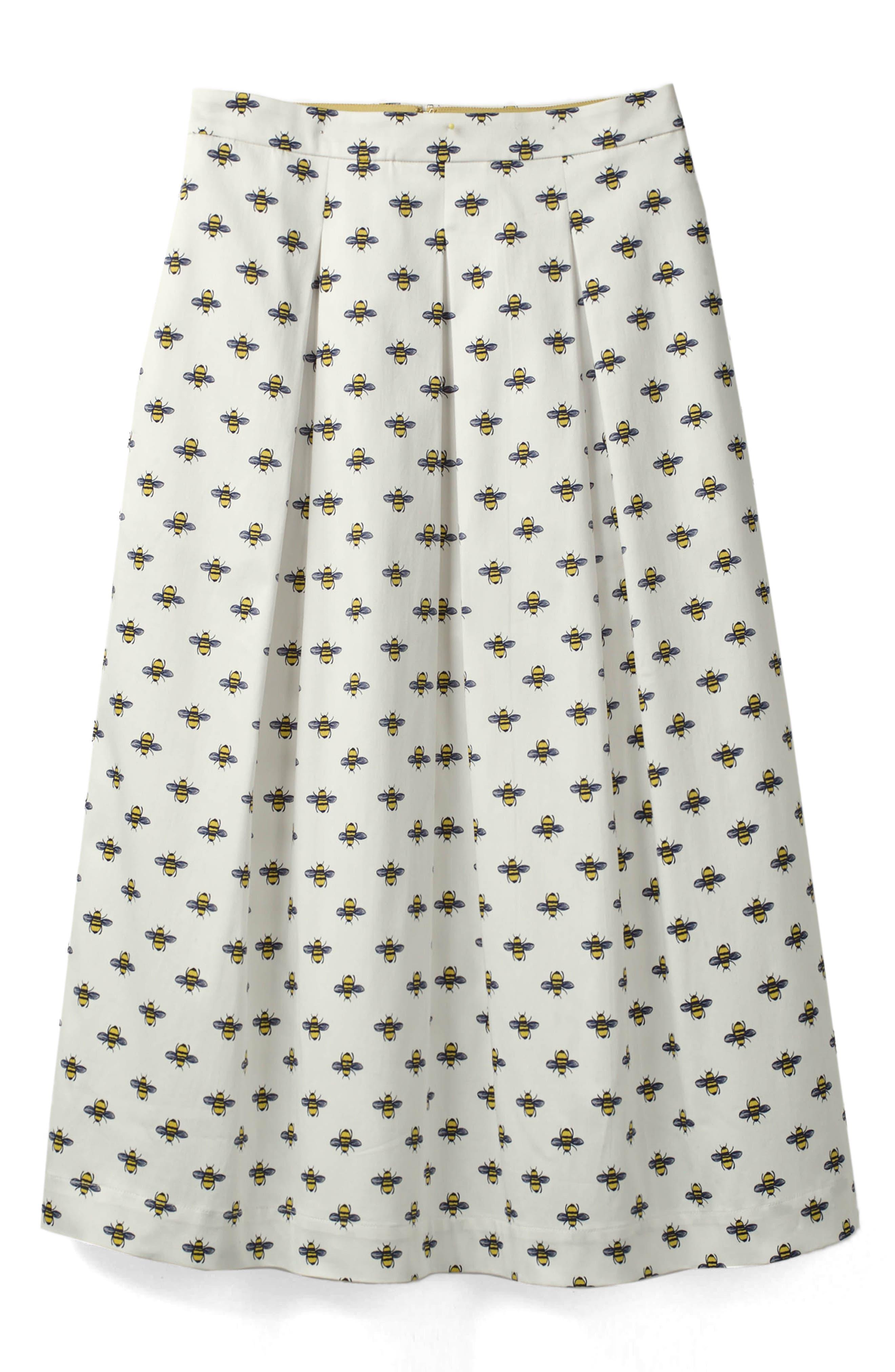 Lola Floral Flared Skirt,                             Main thumbnail 6, color,