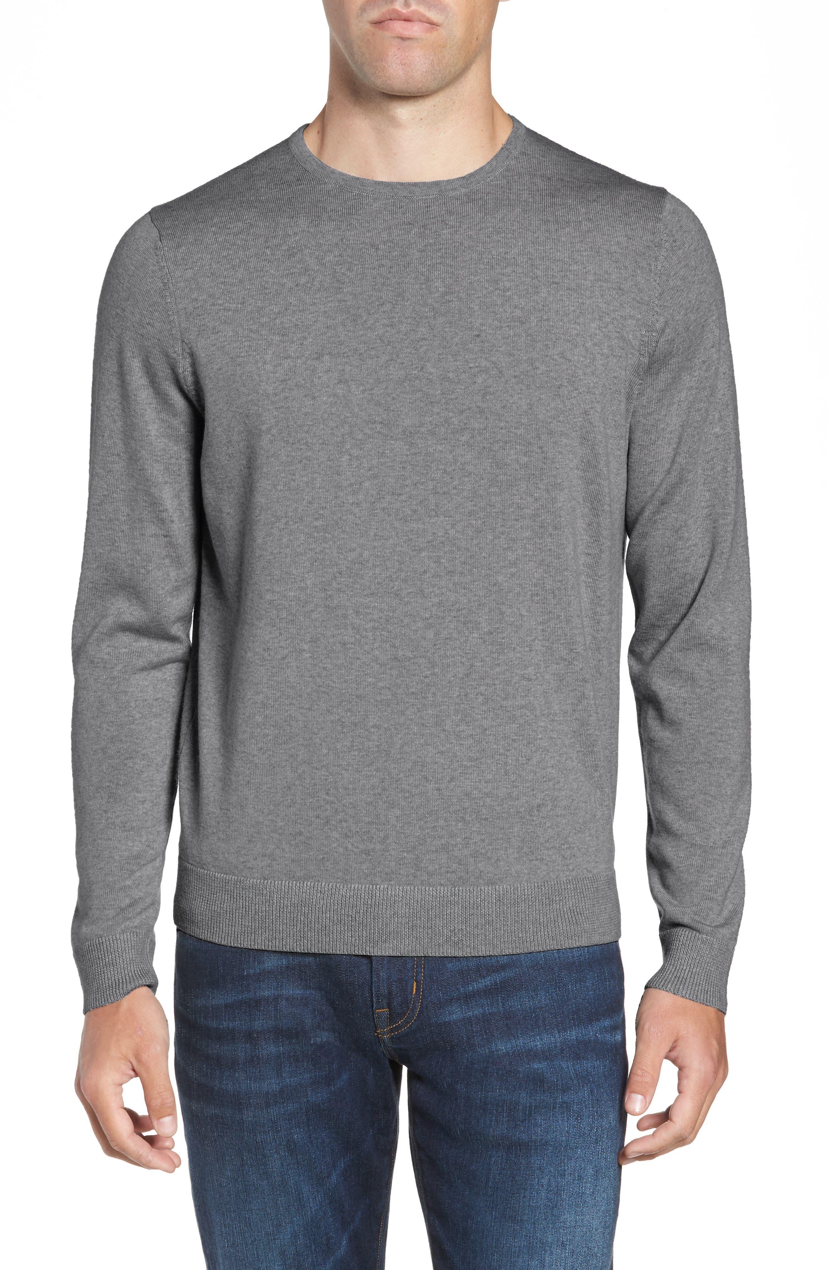 Nordstrom Shop Crewneck Merino Wool Sweater, Grey