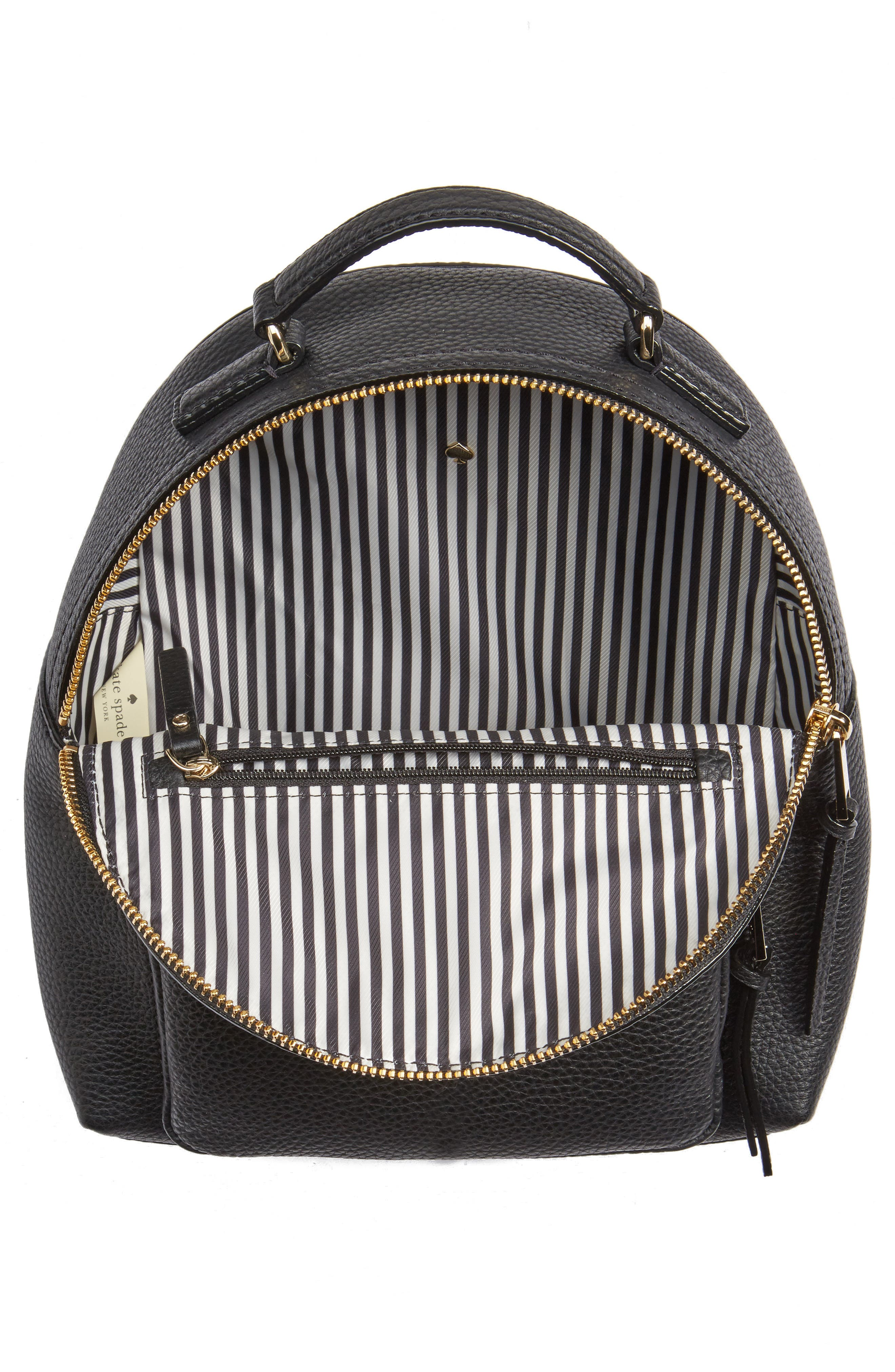 KATE SPADE NEW YORK,                             jackson street - keleigh leather backpack,                             Alternate thumbnail 4, color,                             BLACK