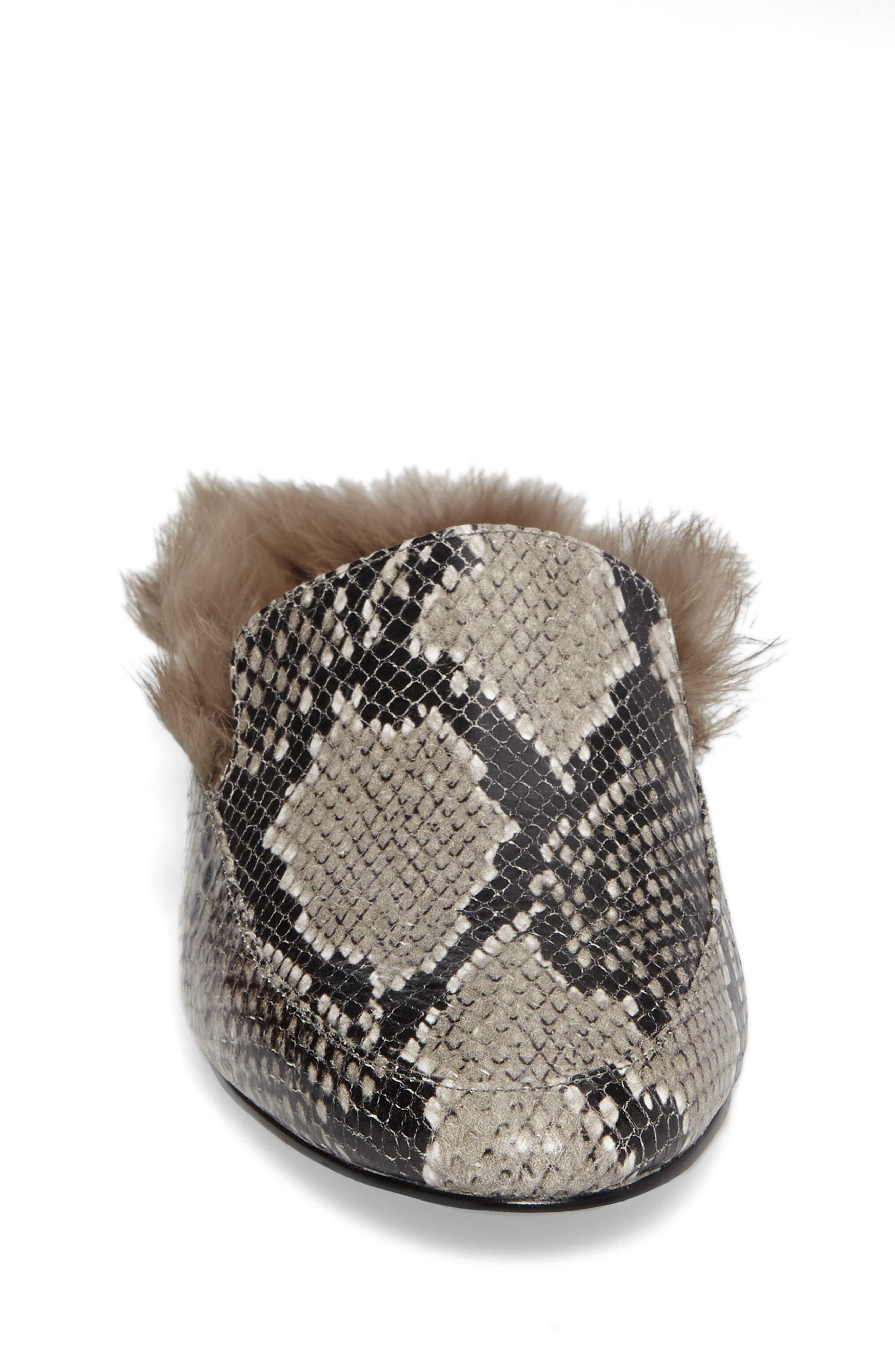 Asha Genuine Rabbit Fur Mule,                             Alternate thumbnail 8, color,