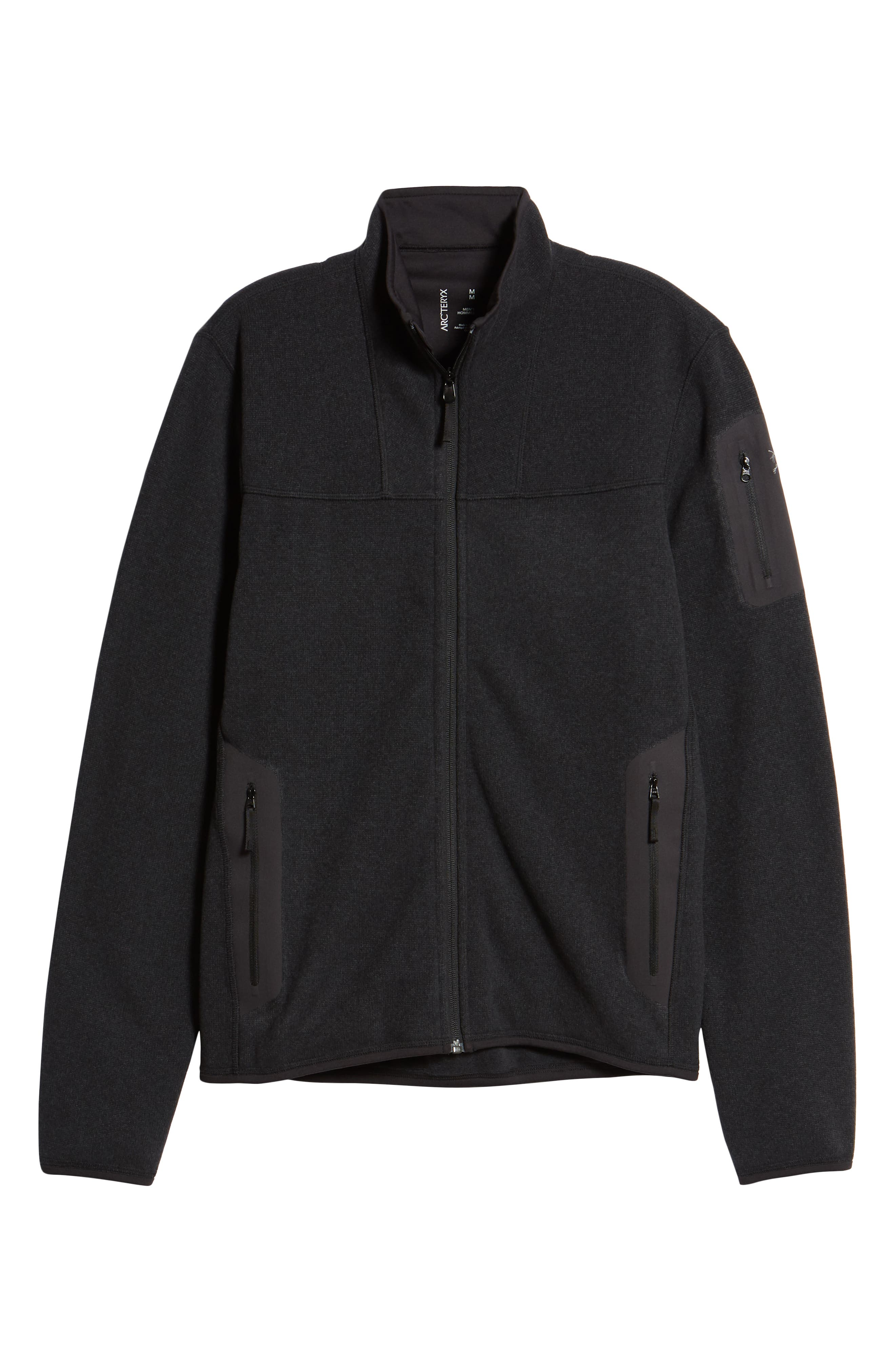'Covert' Relaxed Fit Technical Fleece Zip Jacket,                             Alternate thumbnail 6, color,                             BLACK HEATHER
