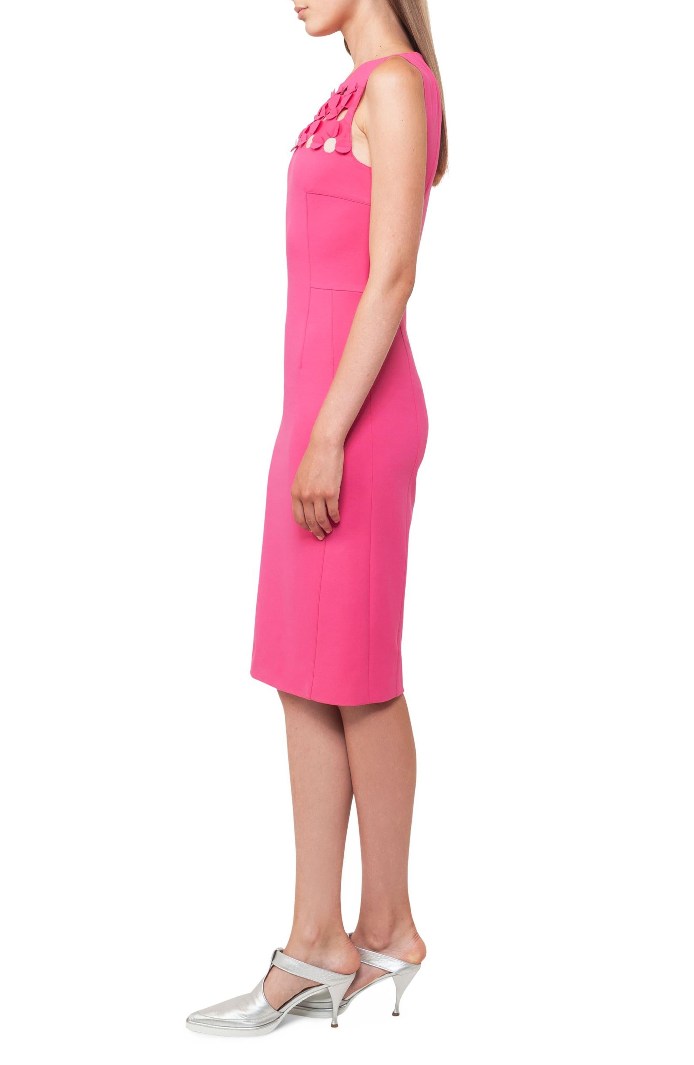 Cutout Dot Sheath Dress,                             Alternate thumbnail 3, color,                             650