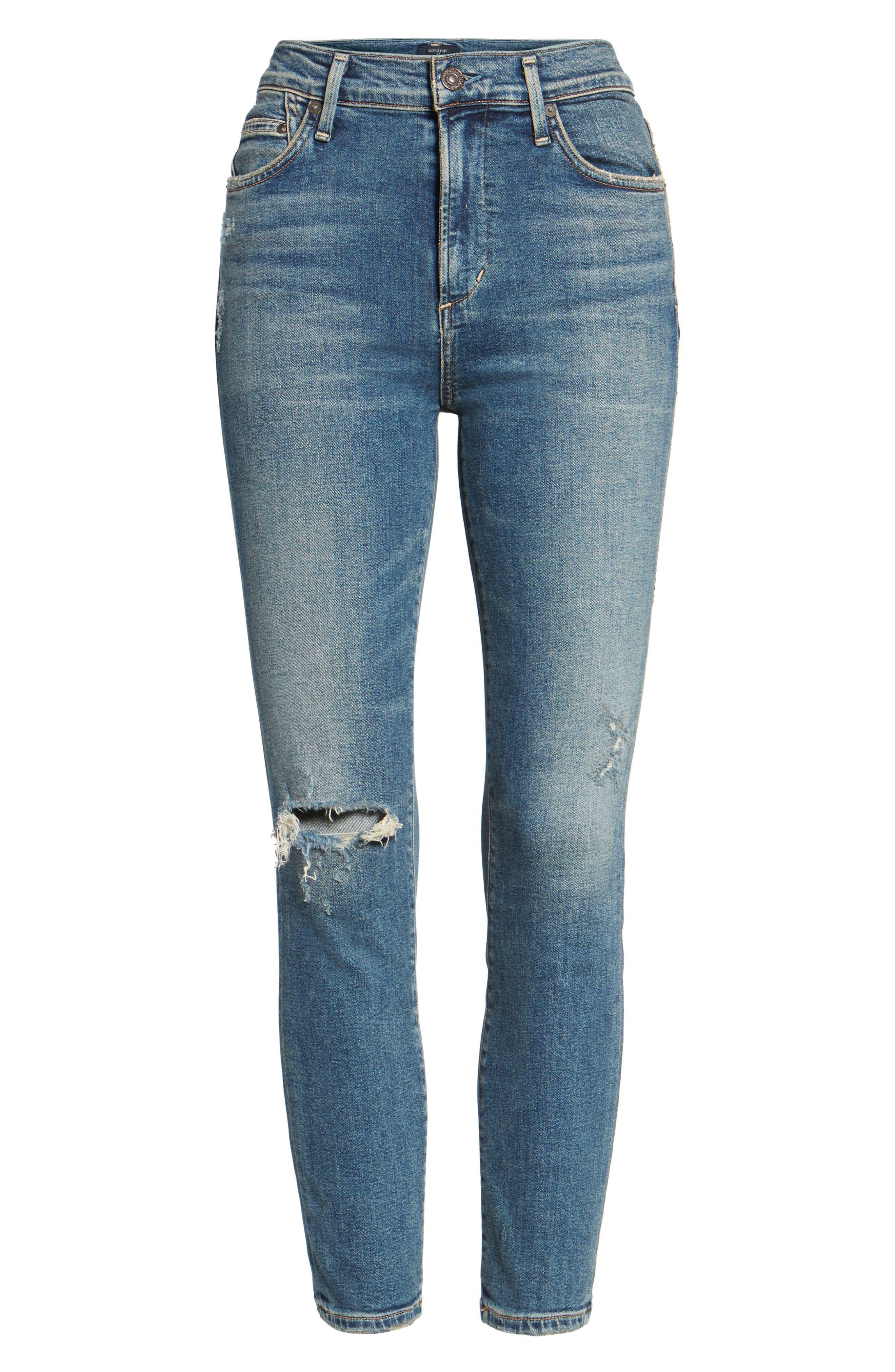 Rocket Crop Skinny Jeans,                             Alternate thumbnail 7, color,                             405