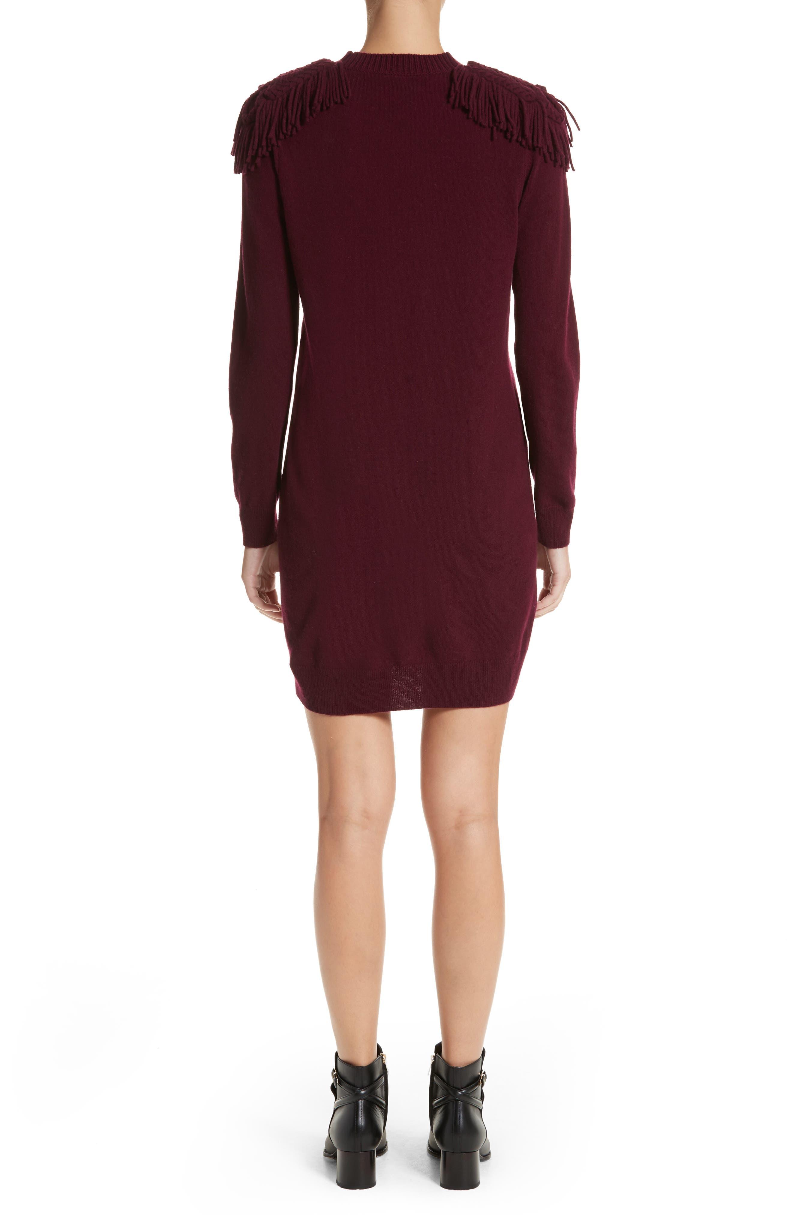 Neto Wool & Cashmere Fringe Sweater Dress,                             Alternate thumbnail 2, color,                             601