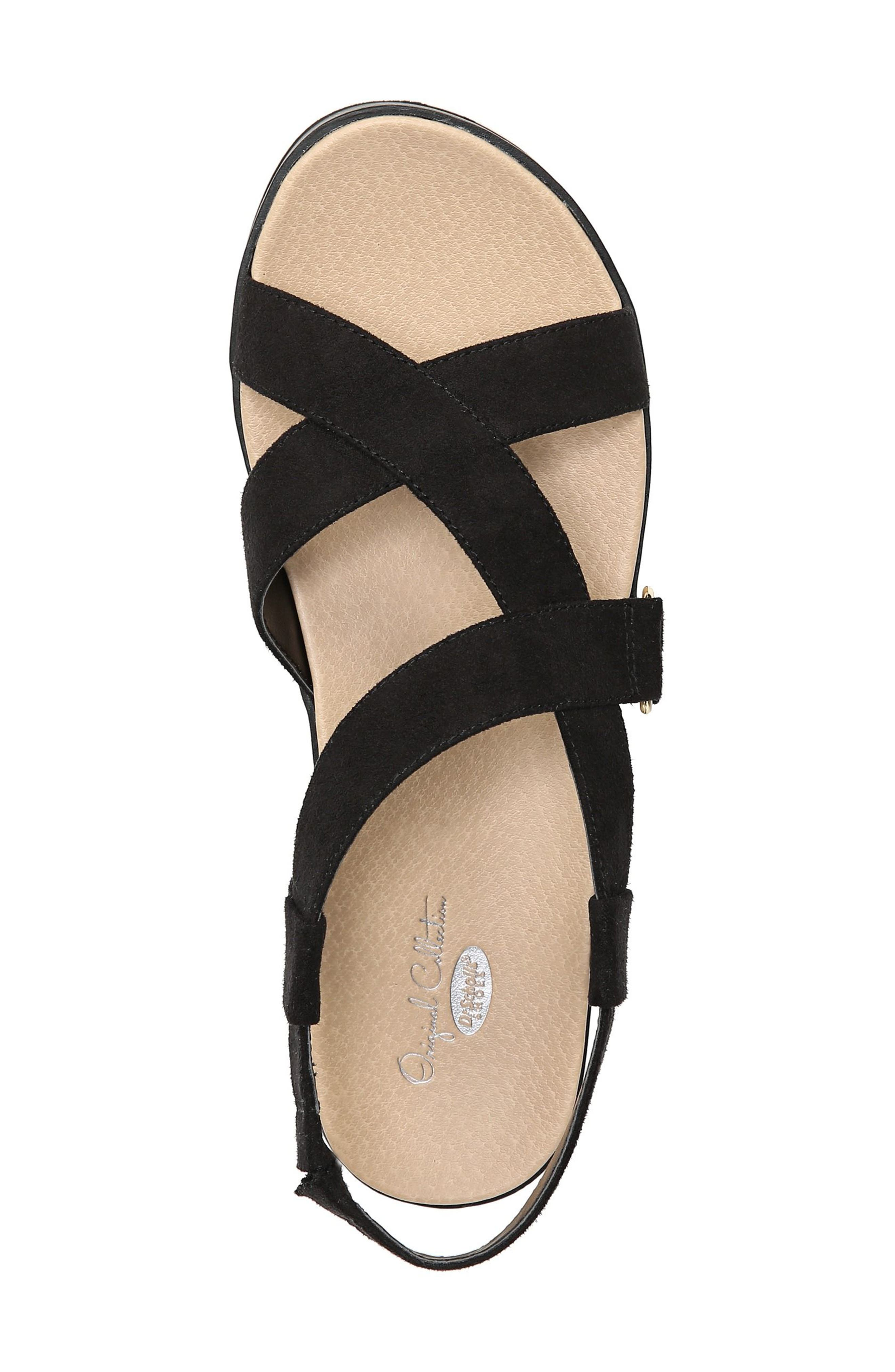 Companion Platform Sandal,                             Alternate thumbnail 5, color,                             BLACK FABRIC