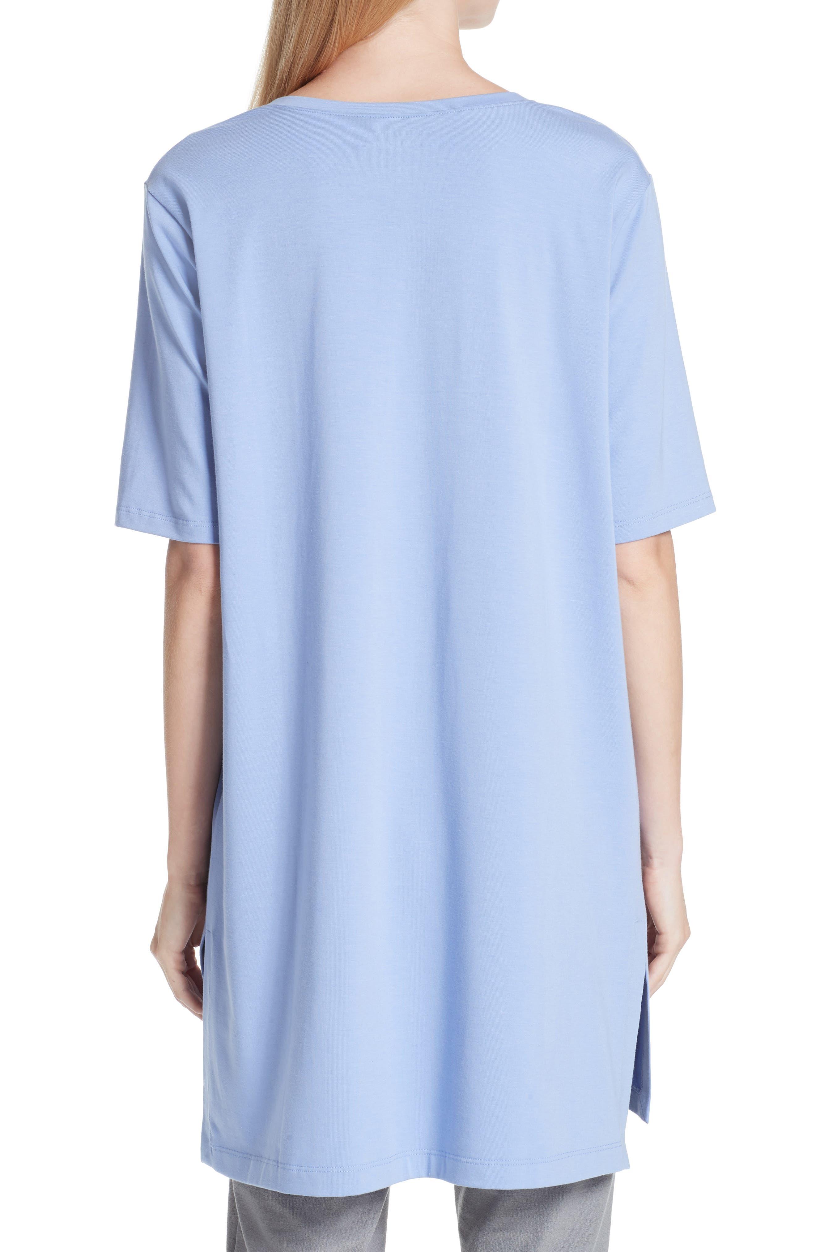 Stretch Organic Cotton Jersey Tunic,                             Alternate thumbnail 9, color,