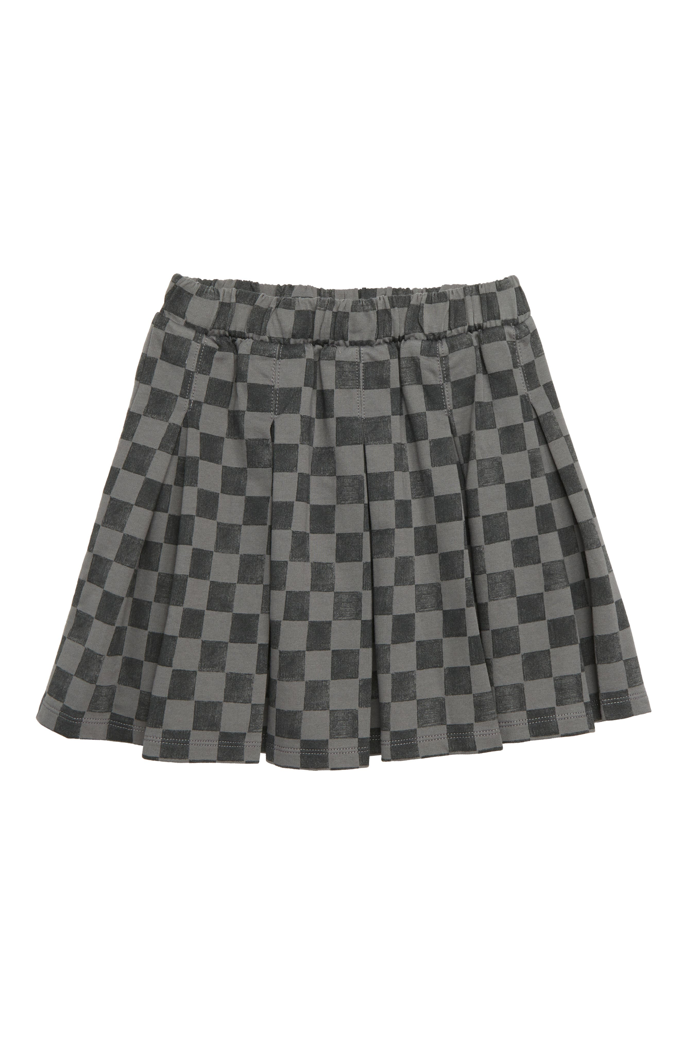 Girls Tea Collection Print Pleated Skirt Size 7  Black