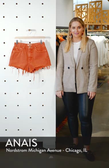 Cindy Rigid High Waist Denim Shorts, sales video thumbnail