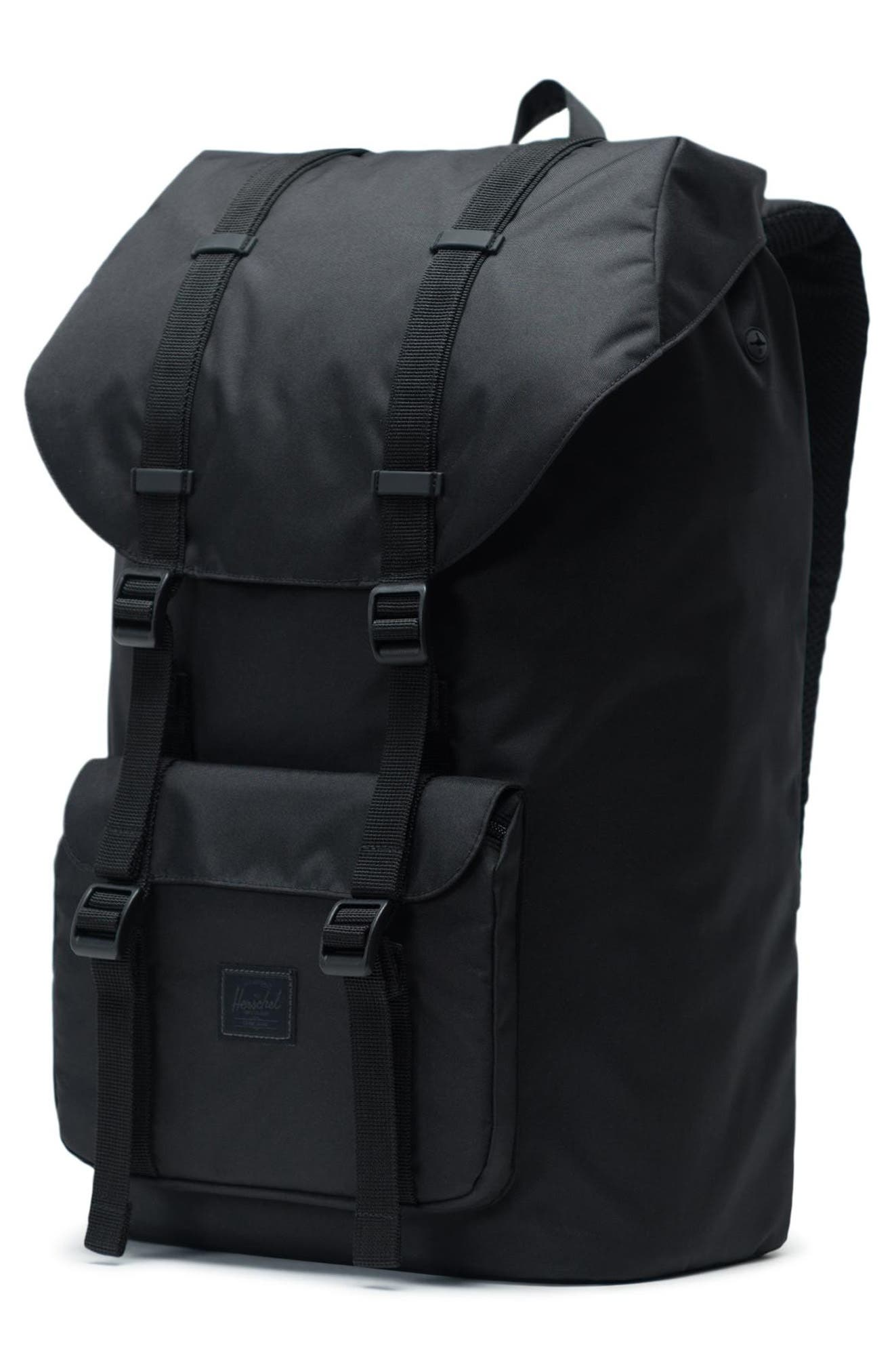 Little America Light Backpack,                             Alternate thumbnail 4, color,                             BLACK