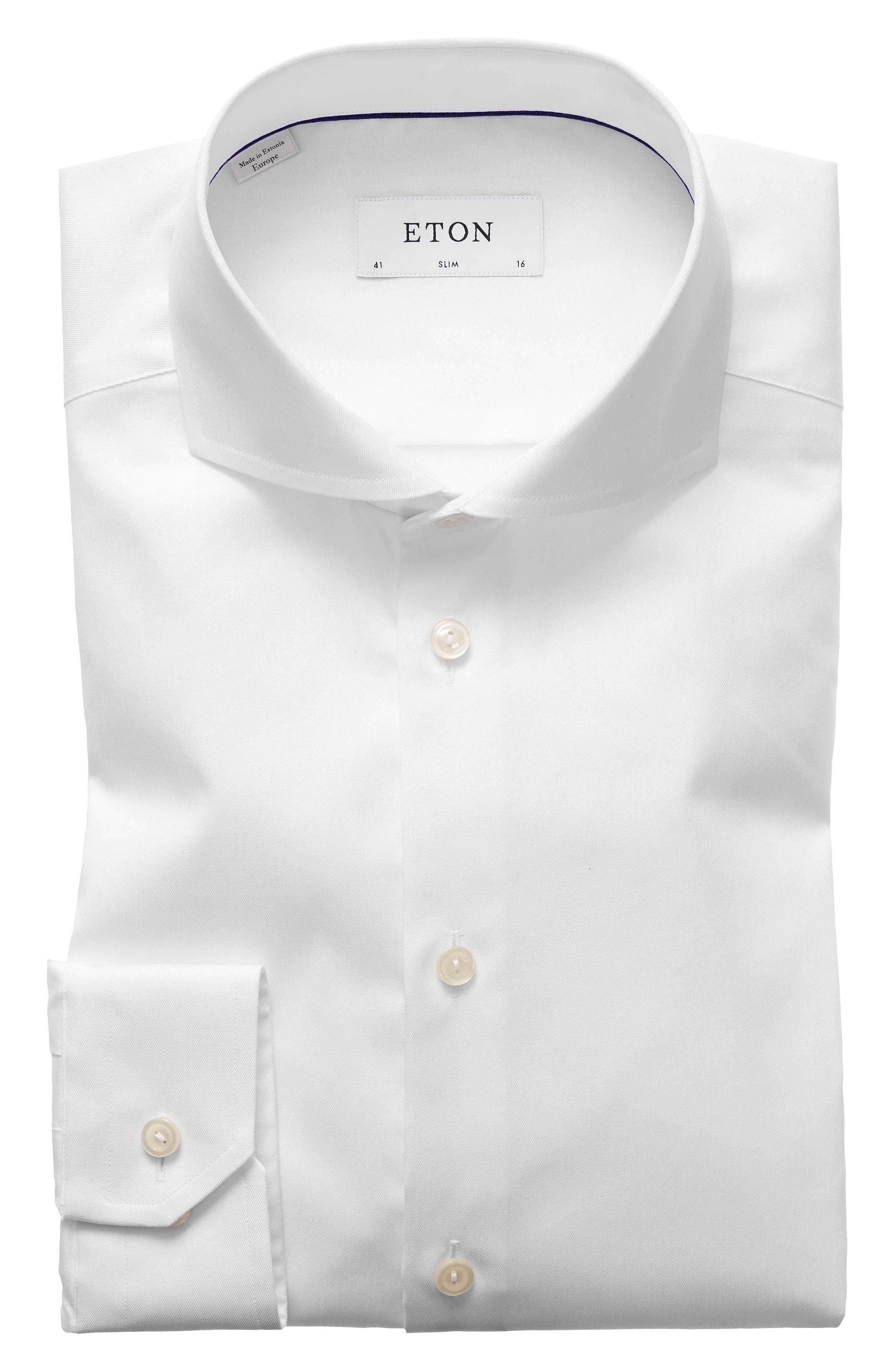 Extra Slim Fit Solid Dress Shirt,                             Main thumbnail 1, color,                             WHITE