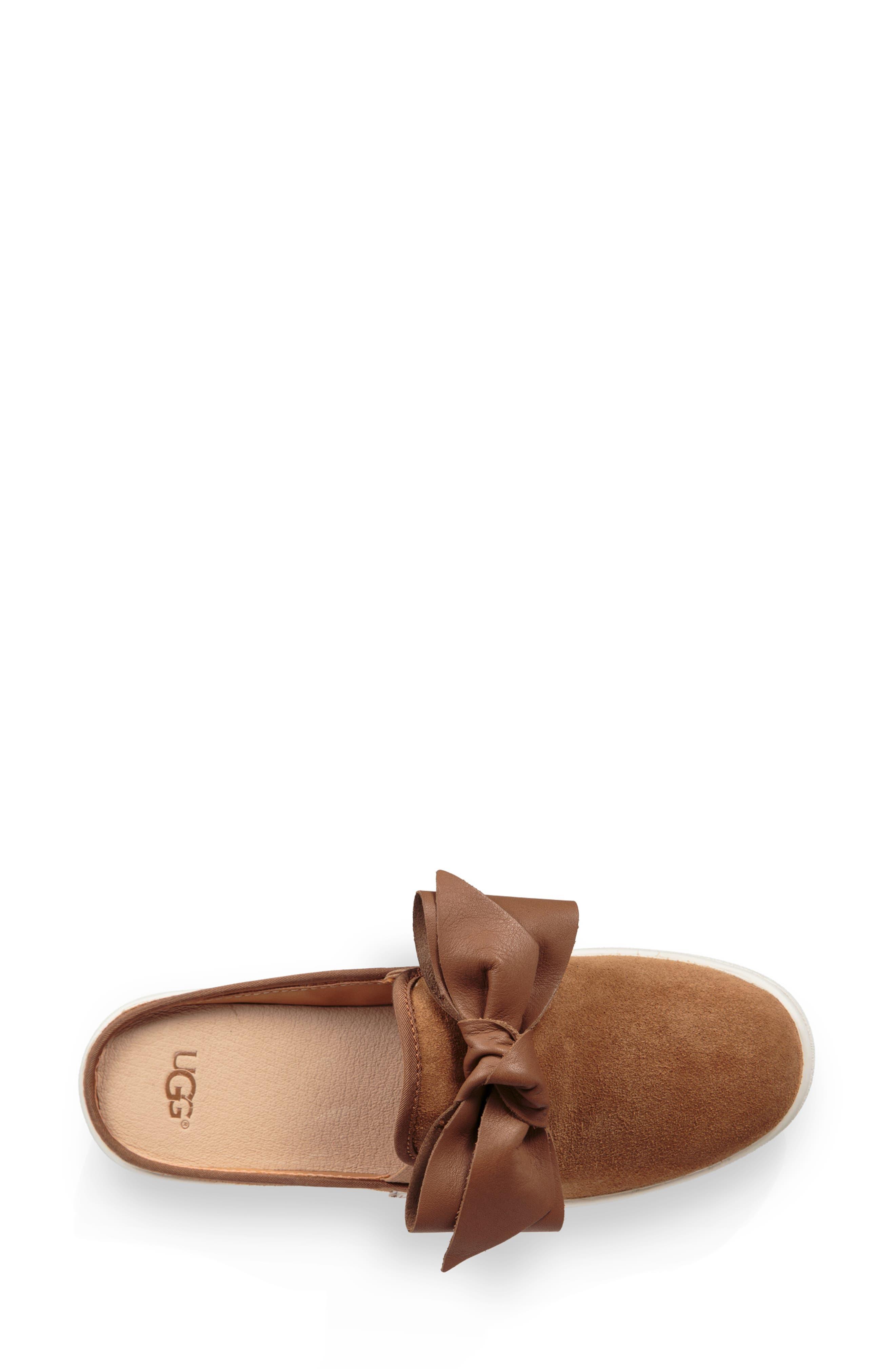 UGG<SUP>®</SUP>,                             Ida Mule Sneaker,                             Alternate thumbnail 4, color,                             CHESTNUT SUEDE