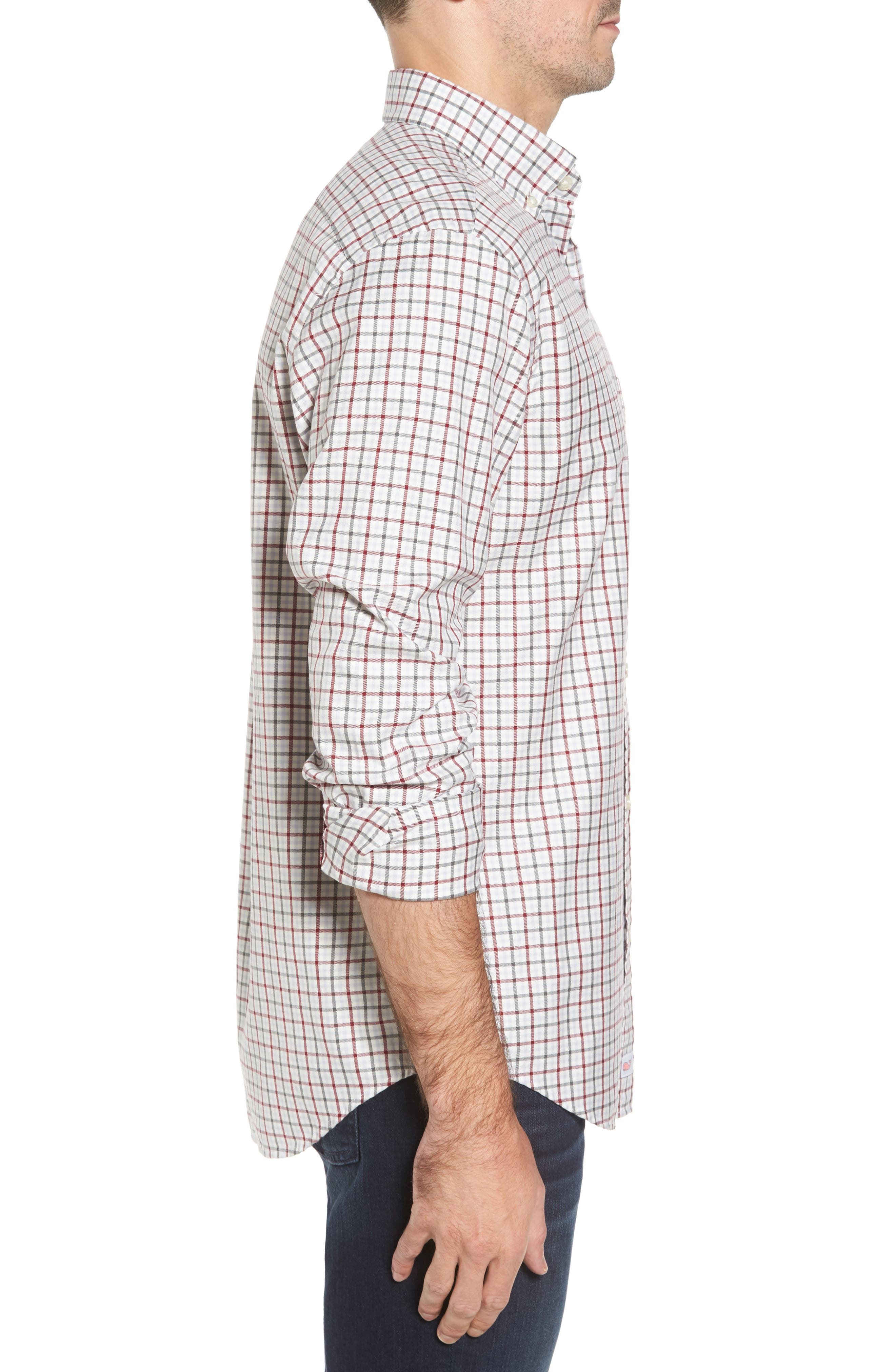 Classic Fit Tucker Cocktail Club Check Sport Shirt,                             Alternate thumbnail 3, color,                             644