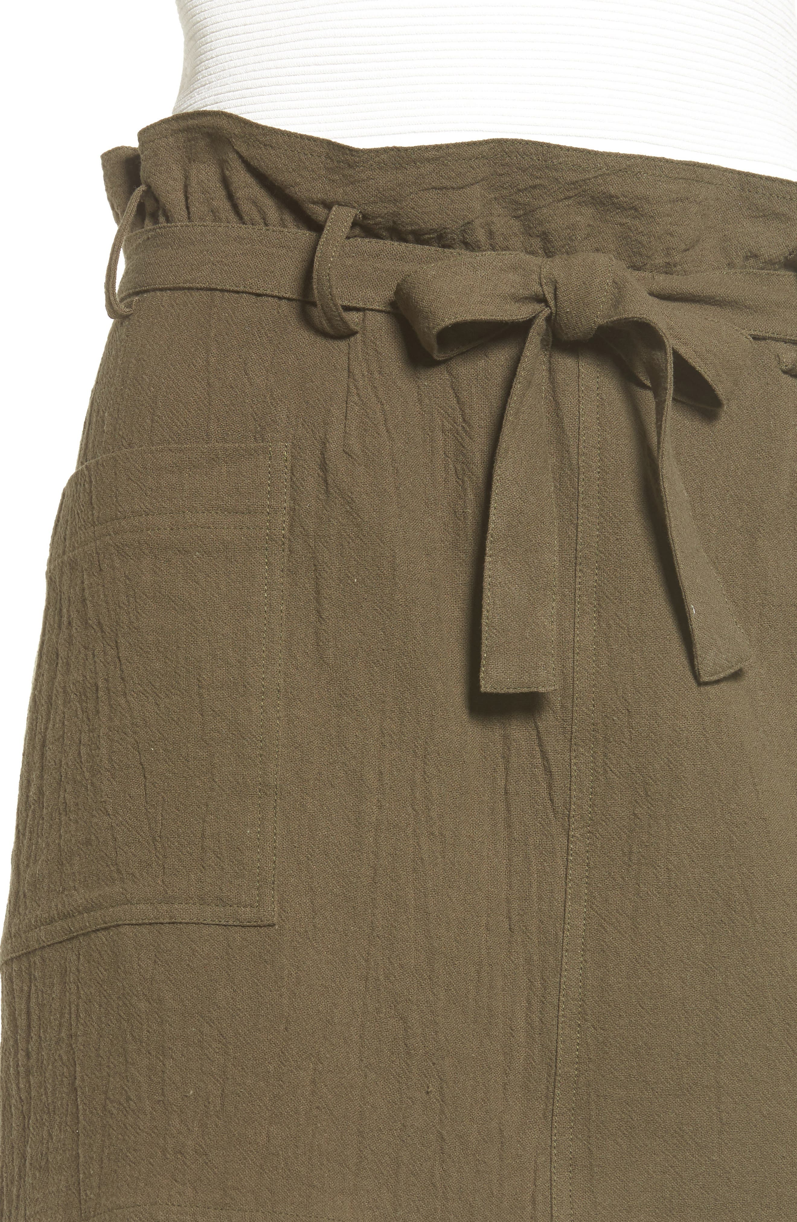 Paperbag Miniskirt,                             Alternate thumbnail 4, color,                             300