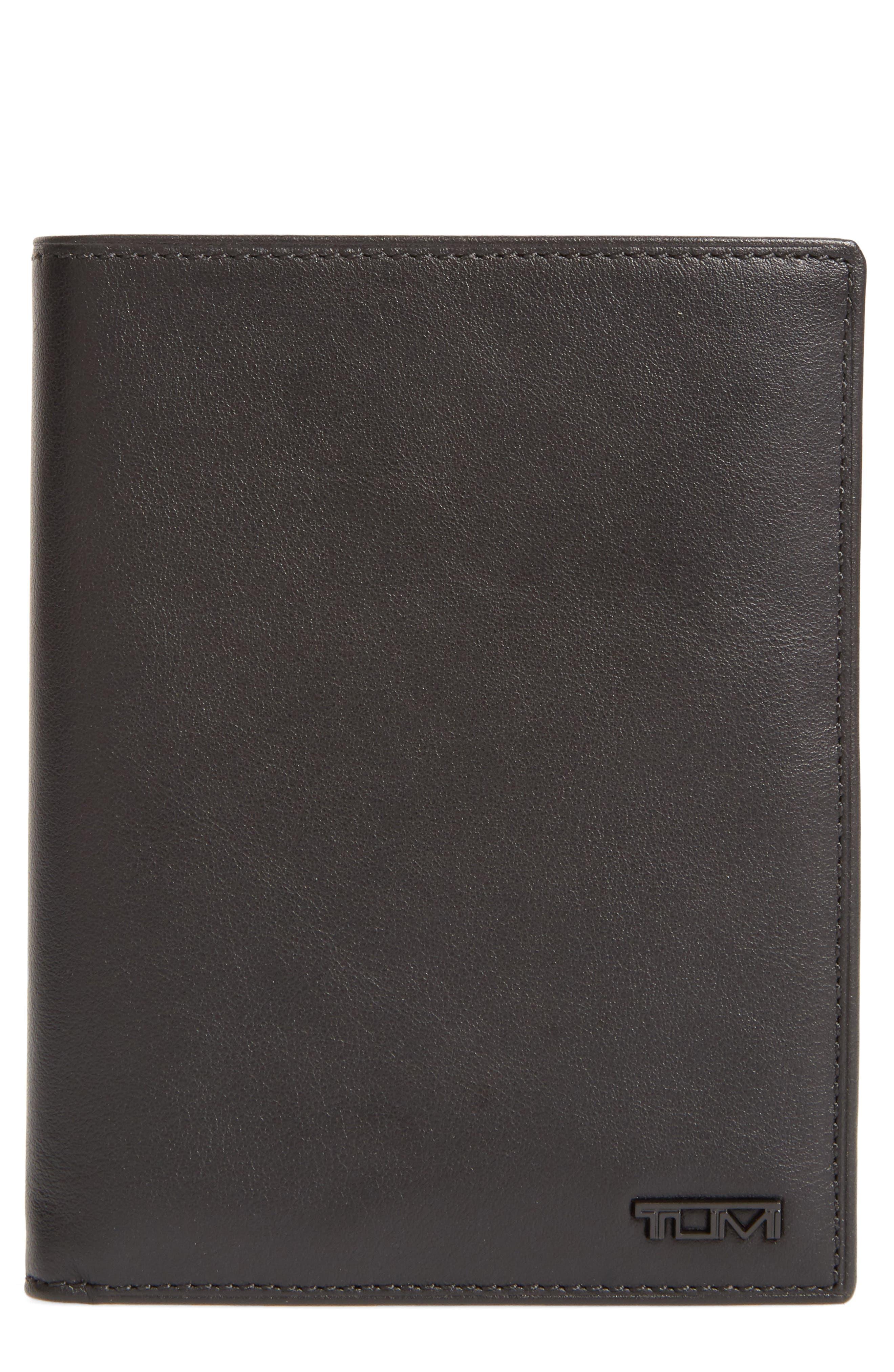 TUMI Delta Passport Case, Main, color, BLACK