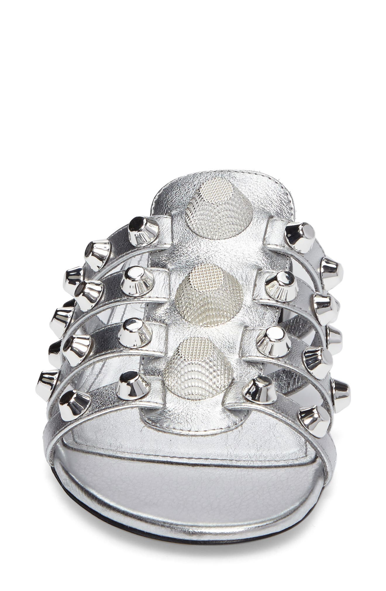 Arena Studded Slide Sandal,                             Alternate thumbnail 4, color,                             041