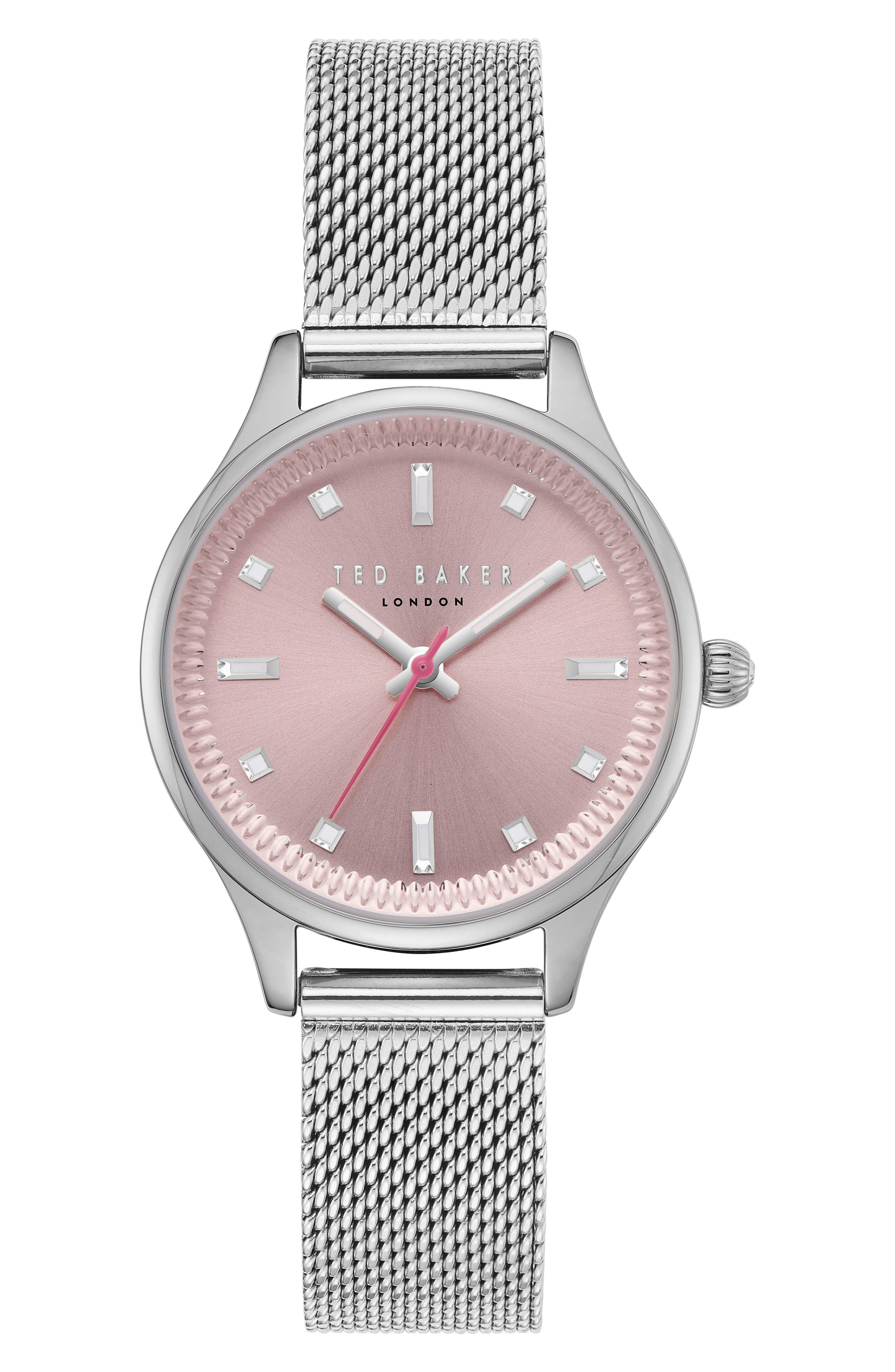 Zoe Mesh Strap Watch, 32mm,                         Main,                         color, 040