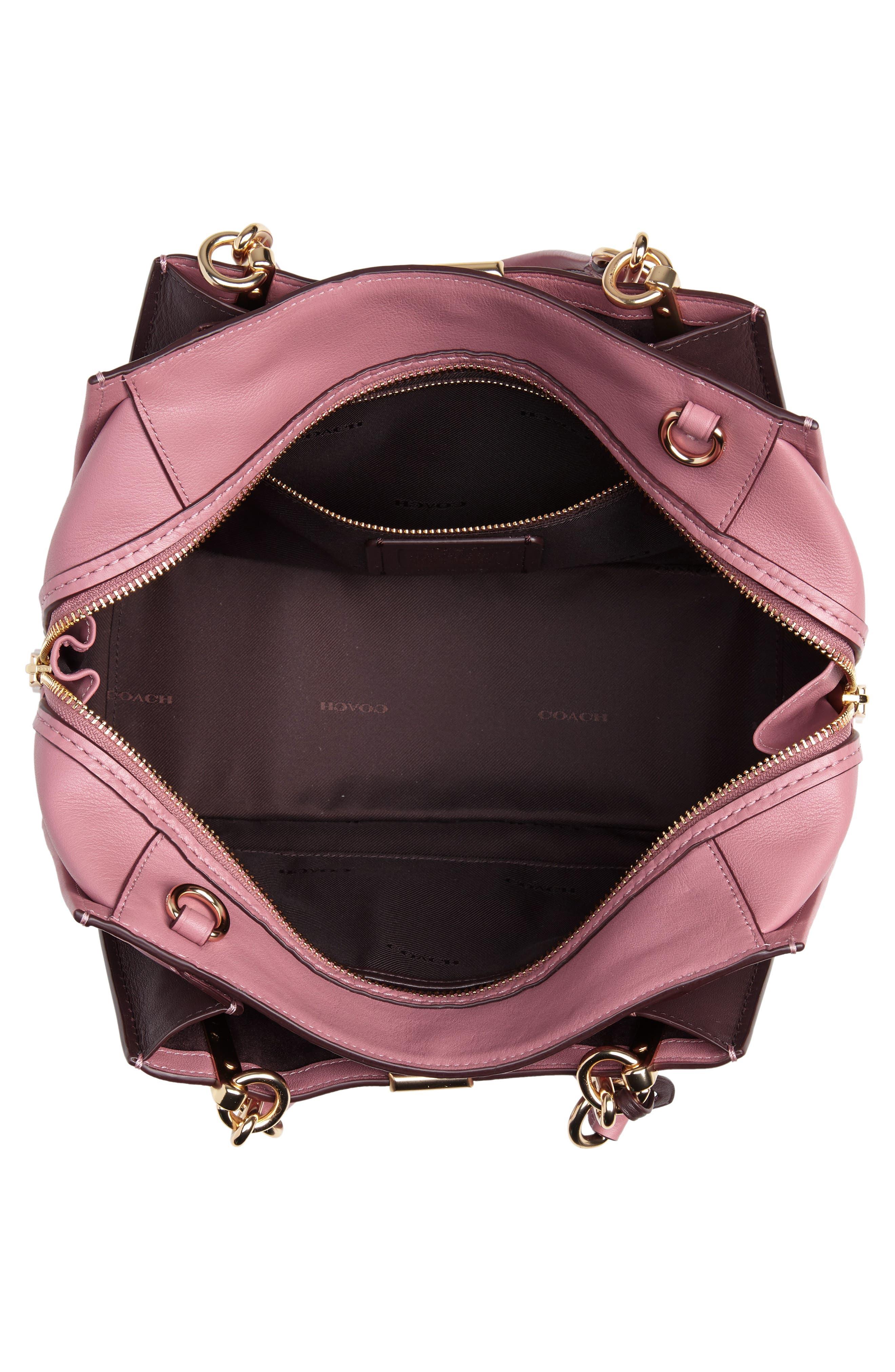 Dreamer Leather Handbag,                             Alternate thumbnail 4, color,                             ROSE MULTI