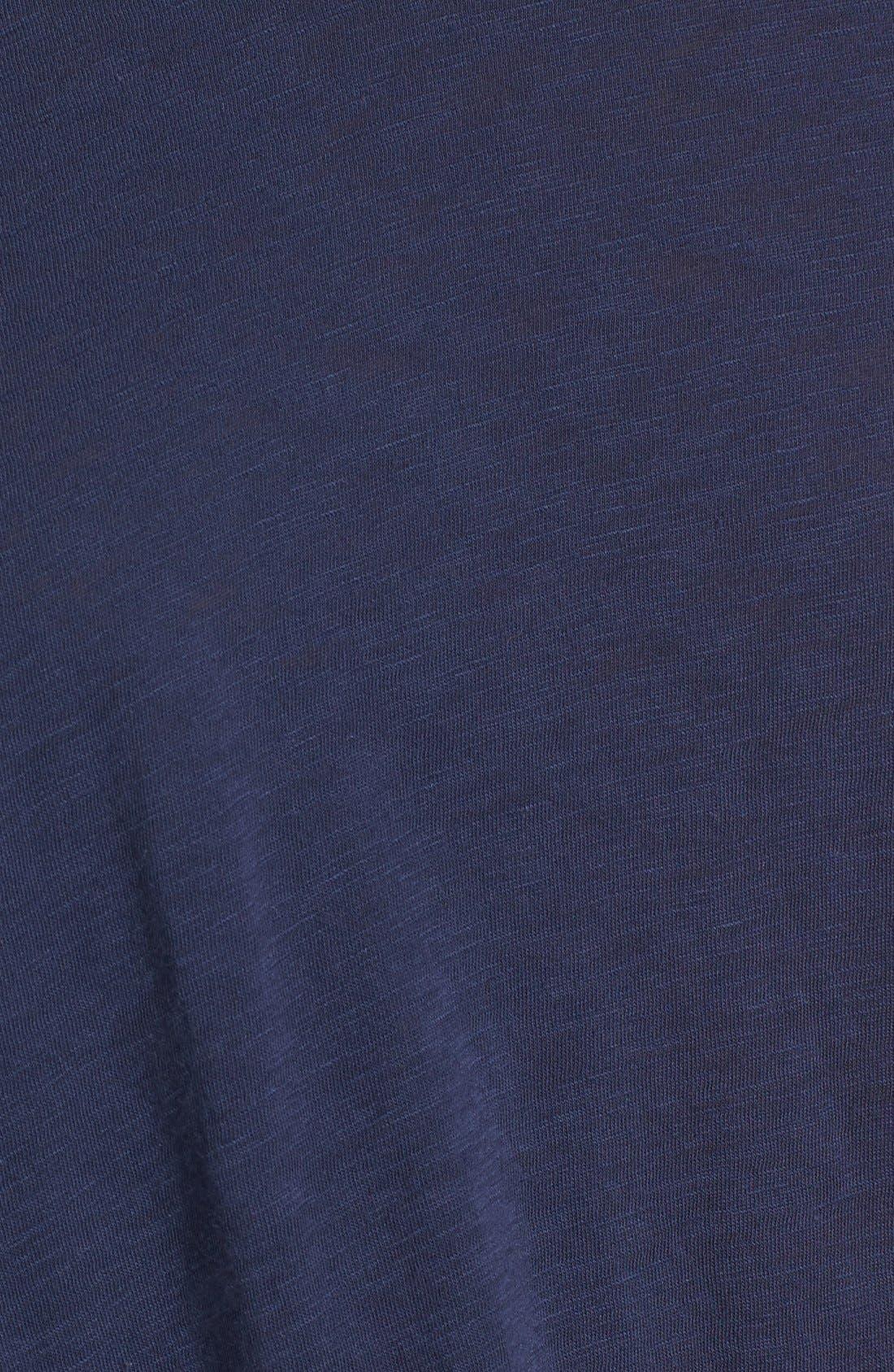 Knot Detail Slub Knit Tee,                             Alternate thumbnail 56, color,