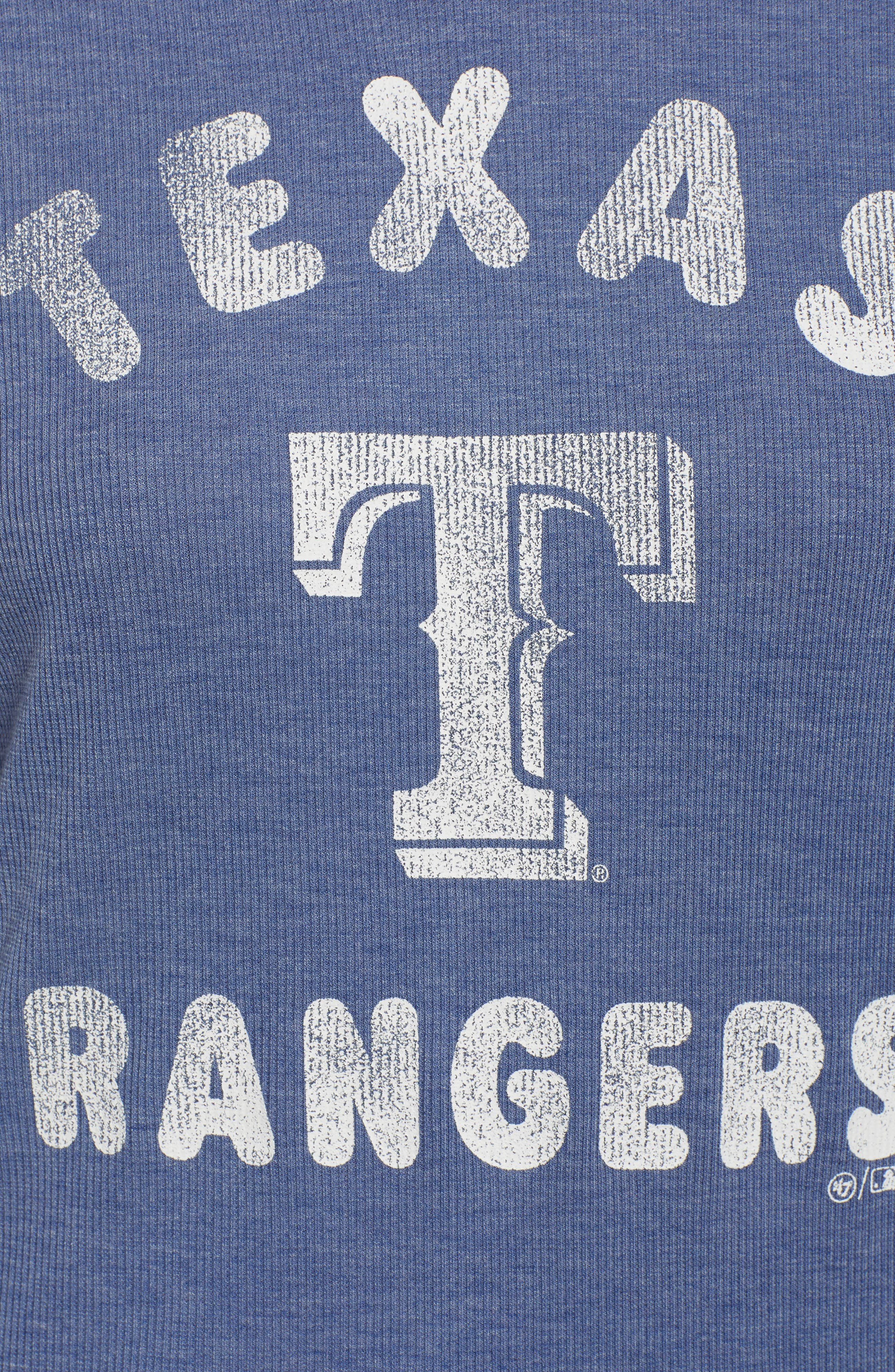 Campbell Texas Rangers Rib Knit Hooded Top,                             Alternate thumbnail 6, color,                             400