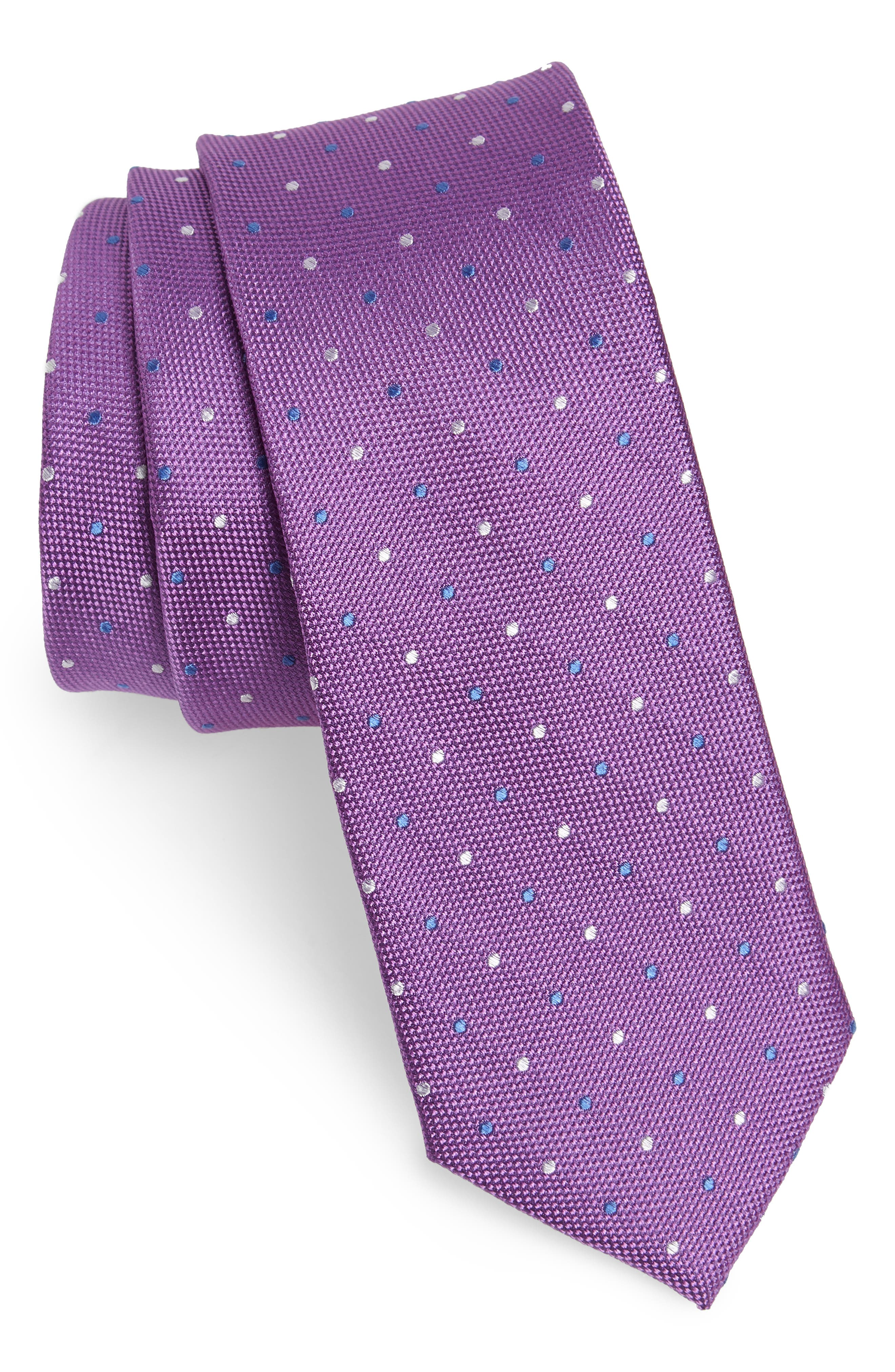 Mirage Dot Silk Tie,                             Main thumbnail 2, color,