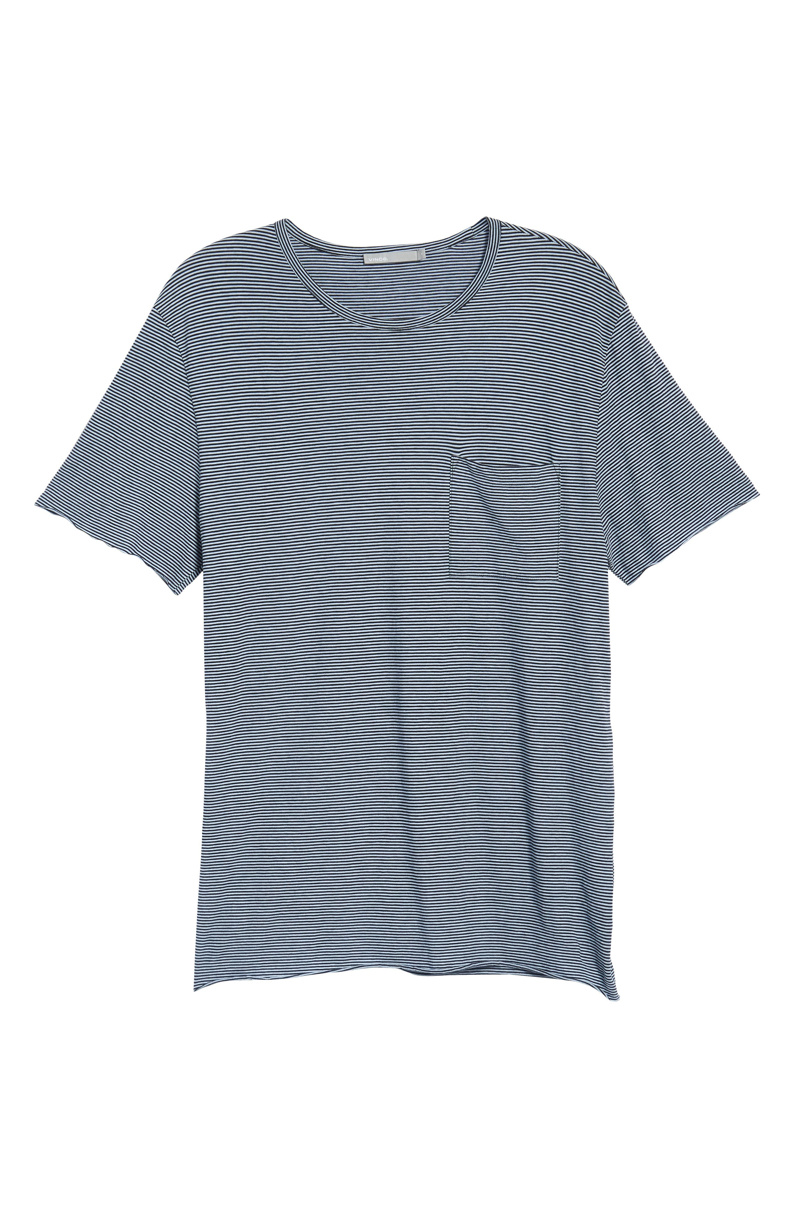 Slim Fit Stripe Pocket T-Shirt,                             Alternate thumbnail 24, color,