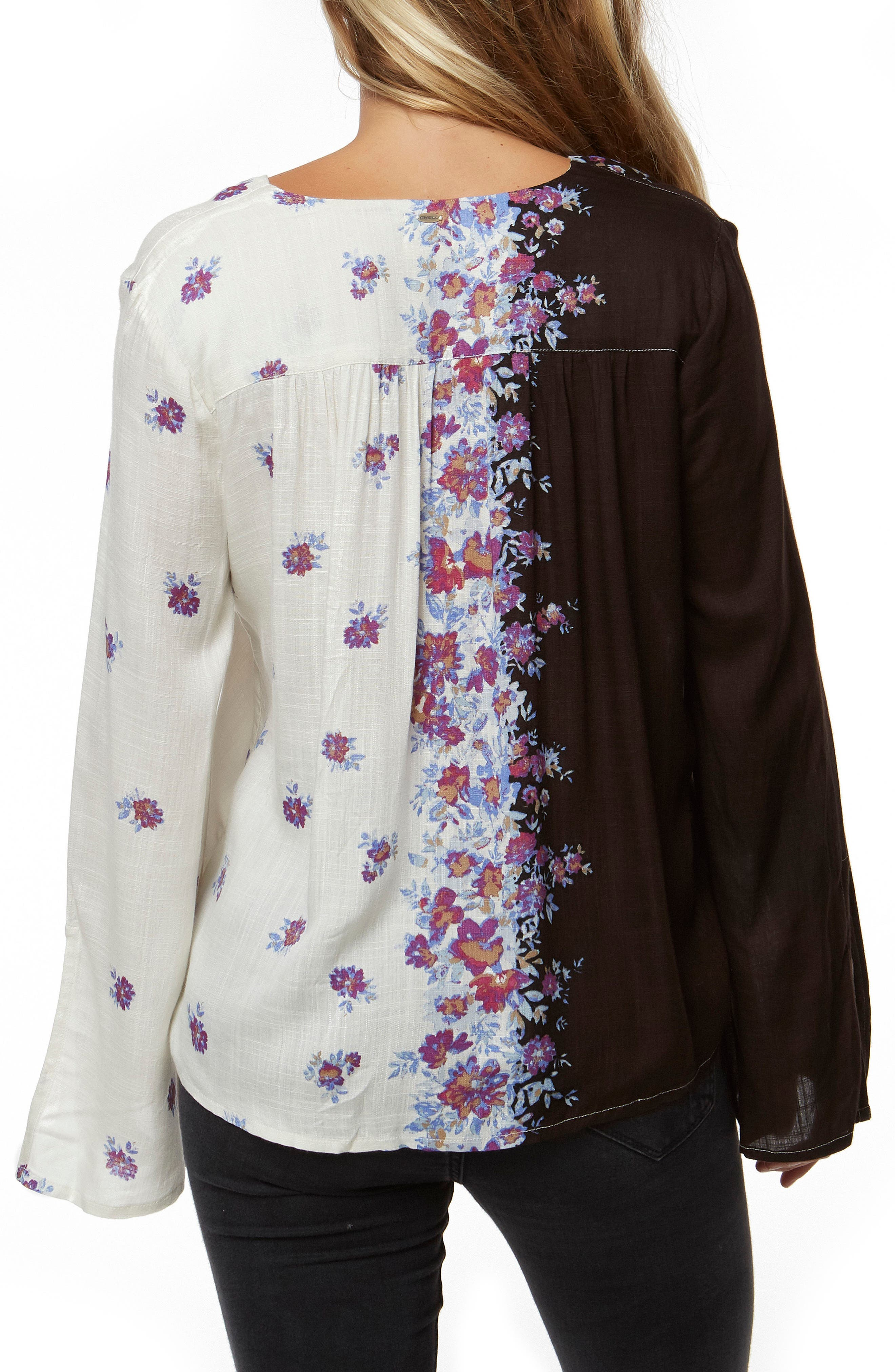 Charley Floral Print Top,                             Alternate thumbnail 2, color,                             001
