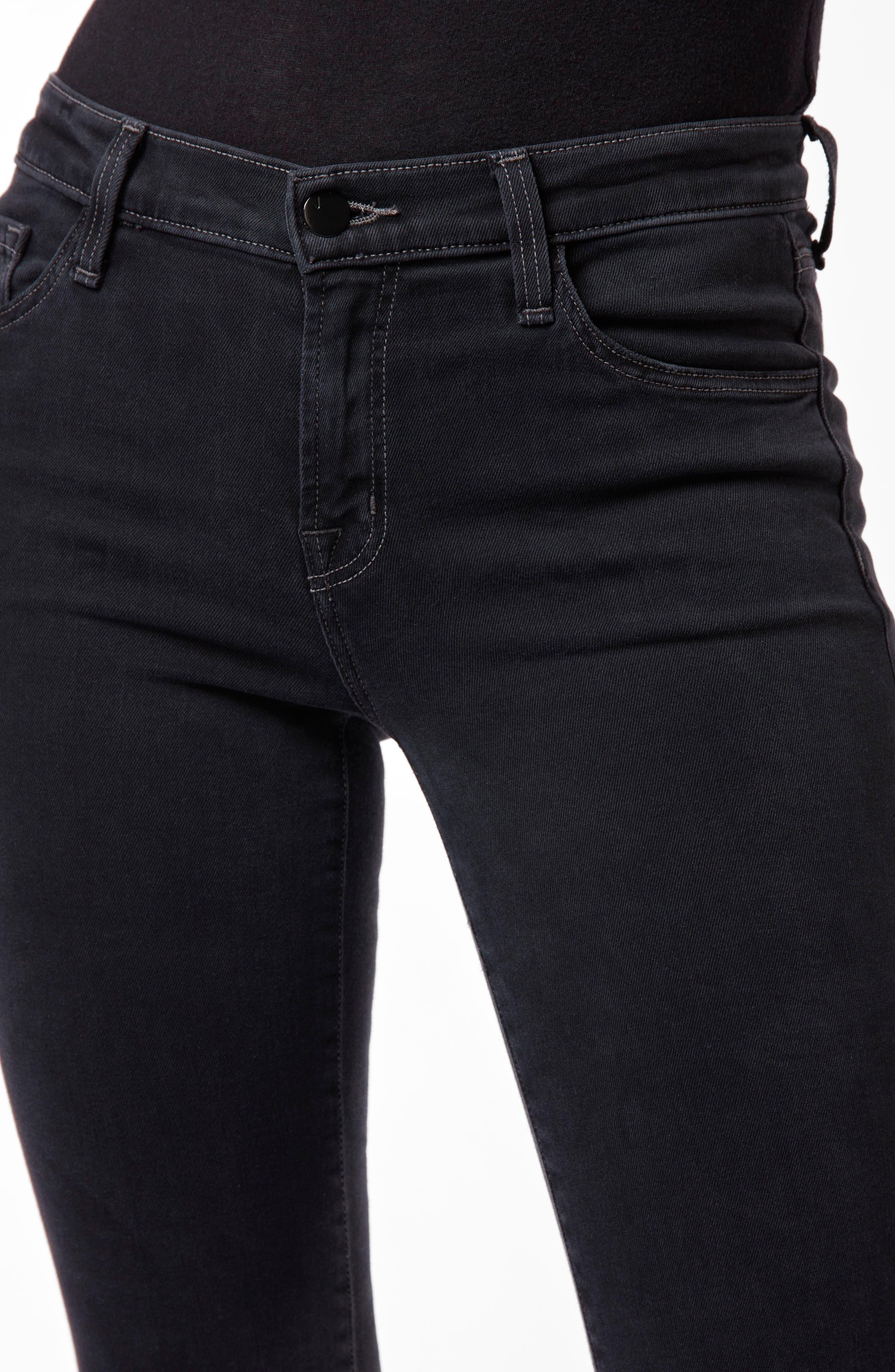 J BRAND,                             Selena Crop Bootcut Jeans,                             Alternate thumbnail 5, color,                             001