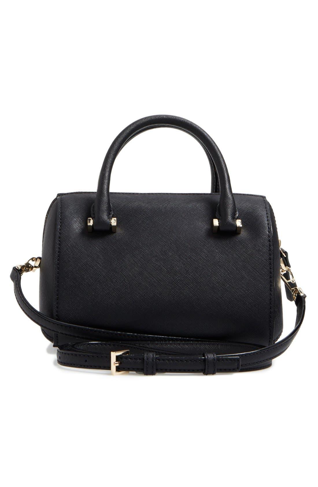 cameron street lane leather satchel,                             Alternate thumbnail 3, color,                             001