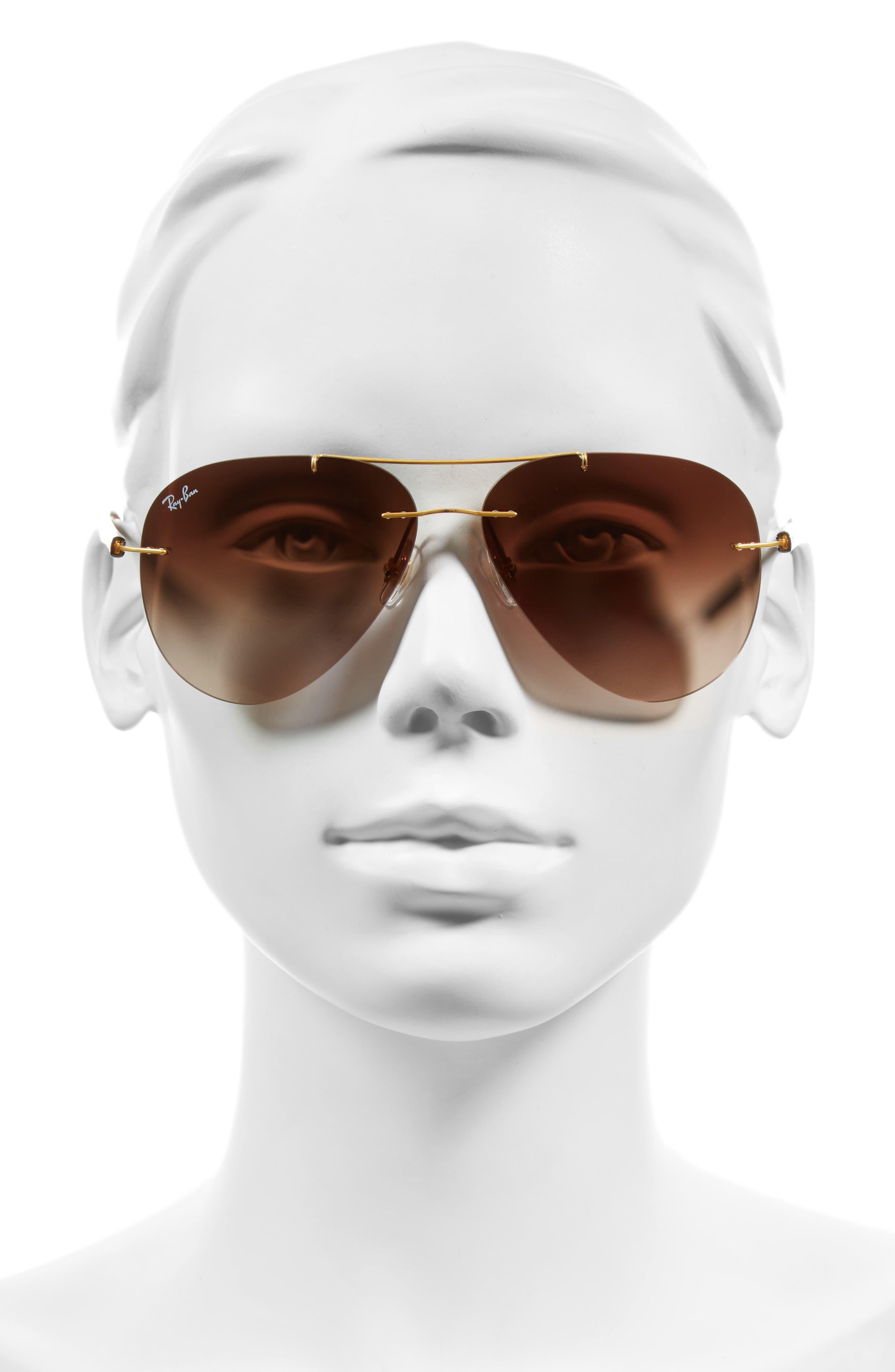 Tech 59mm Aviator Sunglasses,                             Alternate thumbnail 4, color,